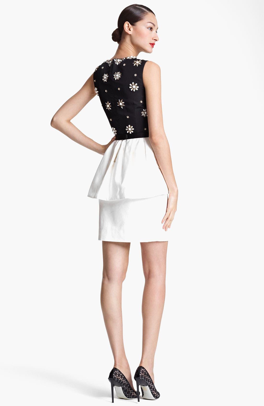 Alternate Image 2  - Jason Wu Embroidered Peplum Sheath Dress