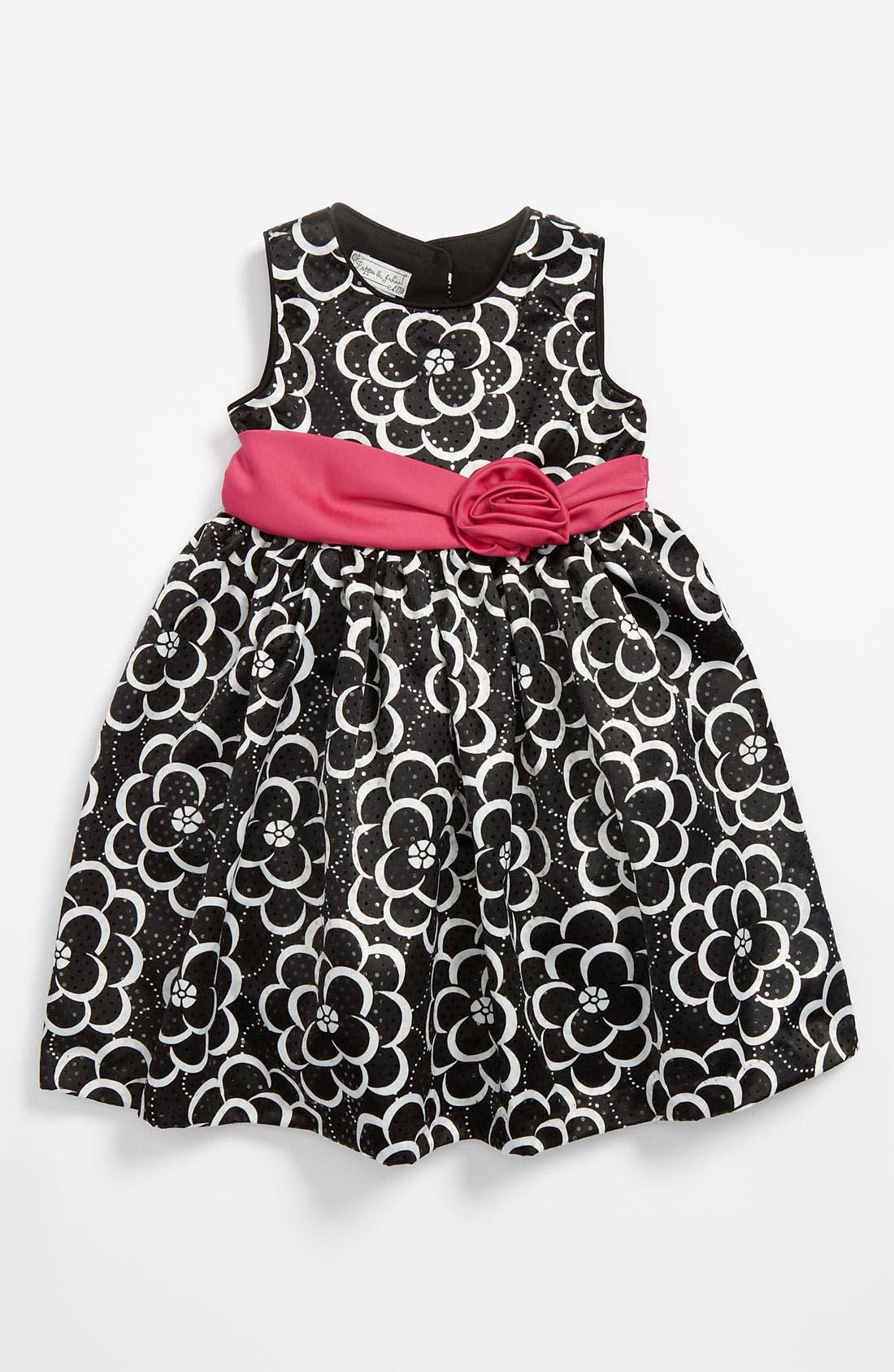 Alternate Image 1 Selected - Pippa & Julie Flower Print Dress (Toddler)