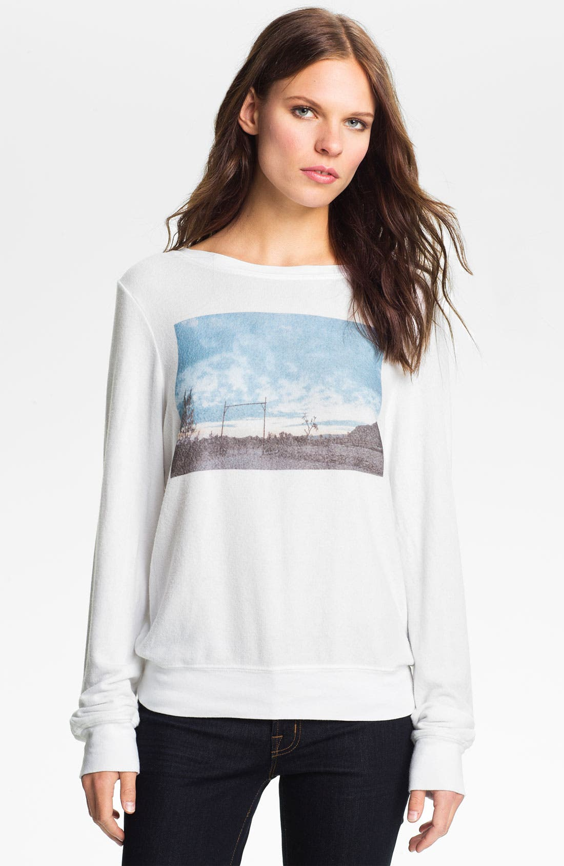 Alternate Image 1 Selected - Wildfox 'Camp Nowhere' Graphic Sweatshirt