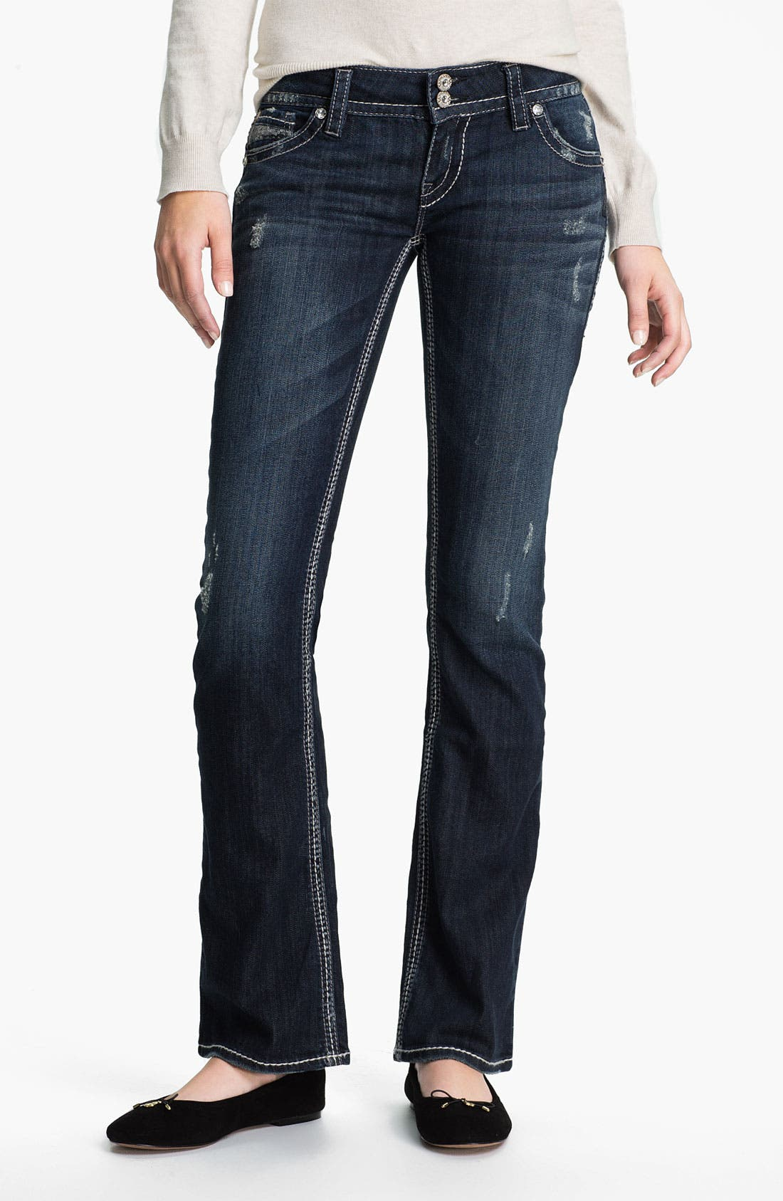 Alternate Image 2  - Silver Jeans Co. 'Dawson' Boot-cut Jeans (Juniors)