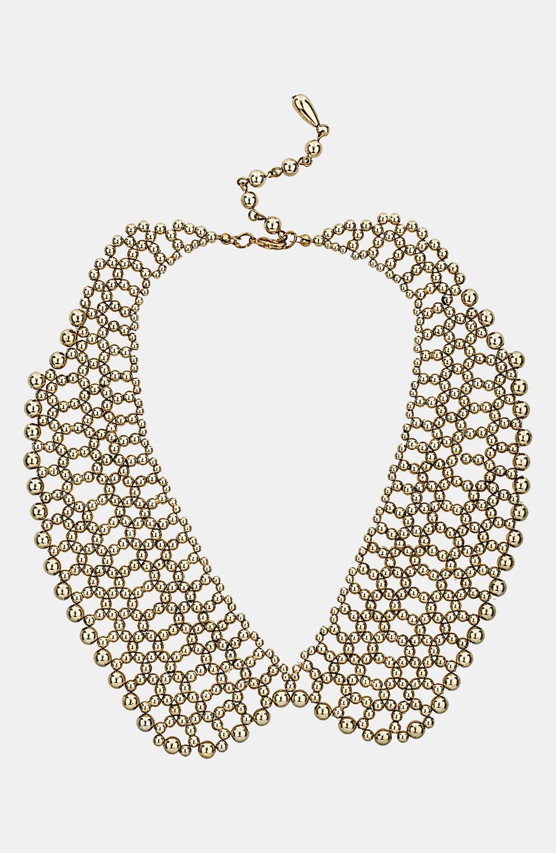 Main Image - Topshop Beaded Peter Pan Collar Necklace