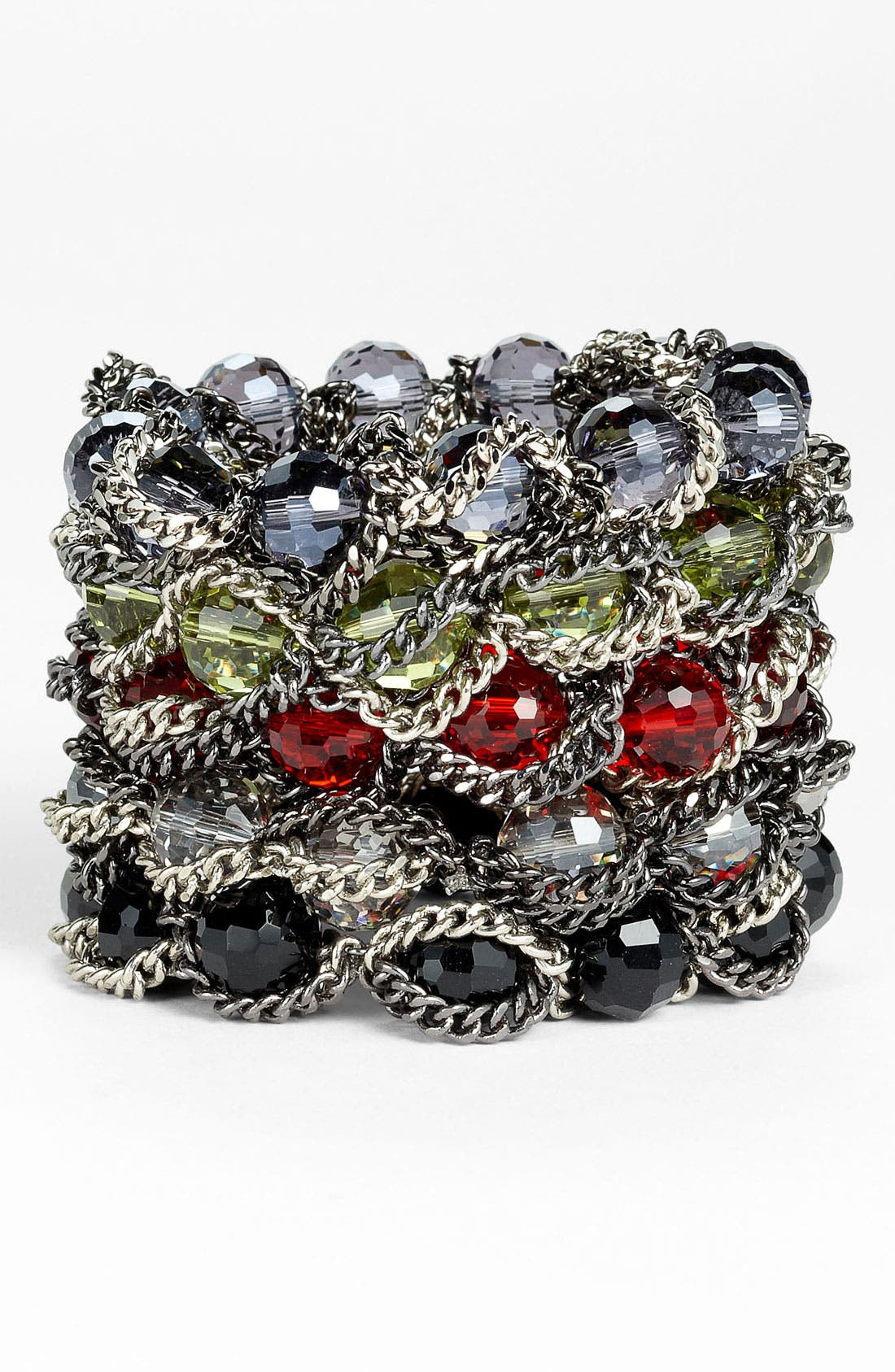 Alternate Image 1 Selected - Nordstrom Bead & Chain Stretch Bracelet