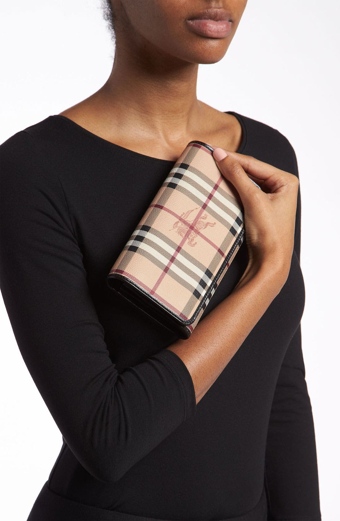 Alternate Image 2  - Burberry 'Haymarket Check' Flap Wallet