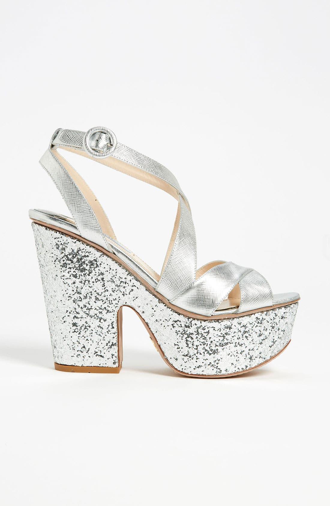 Alternate Image 3  - Prada Glitter Platform Sandal