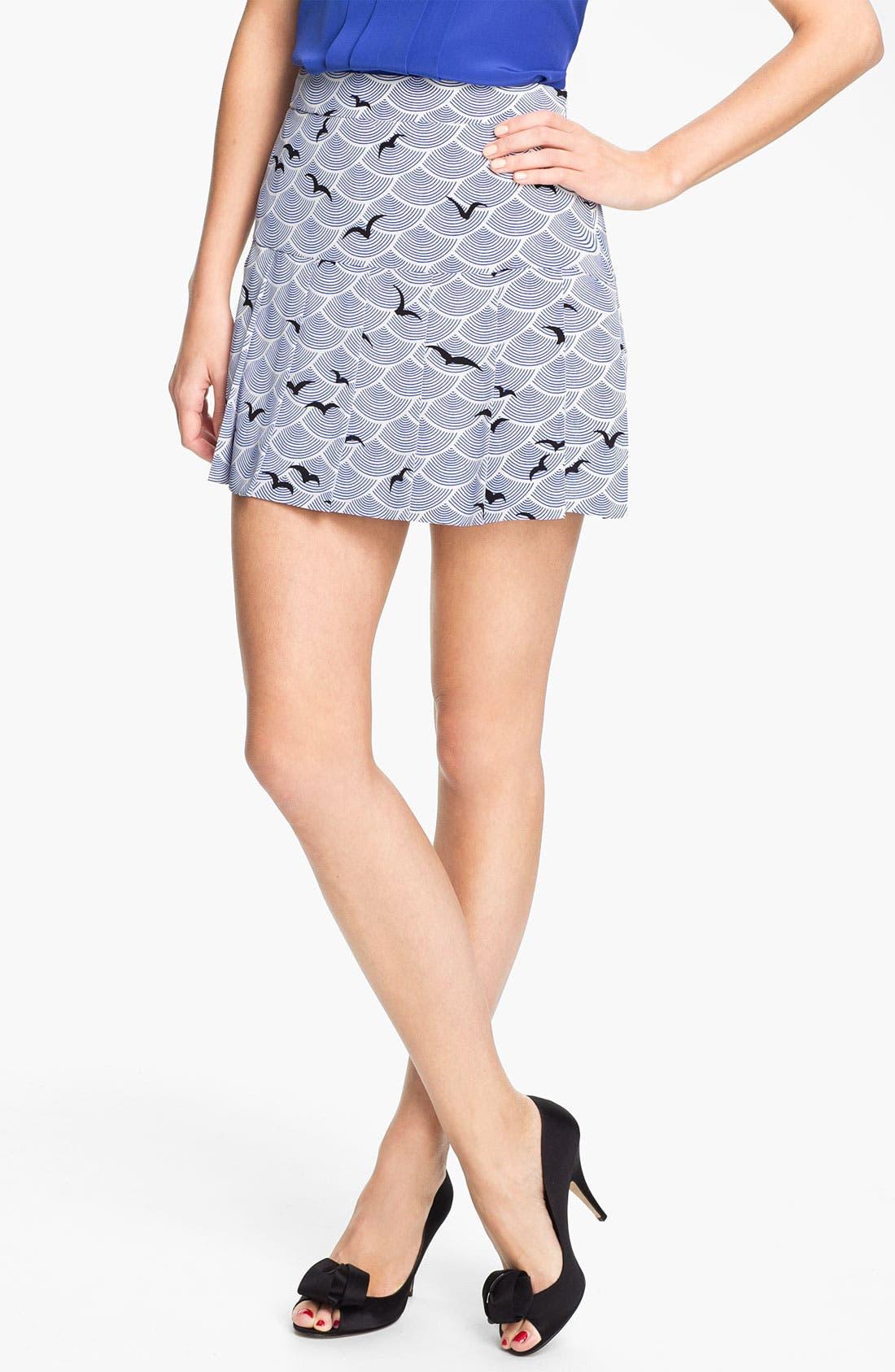 Alternate Image 1 Selected - kate spade new york 'gavin' print skirt