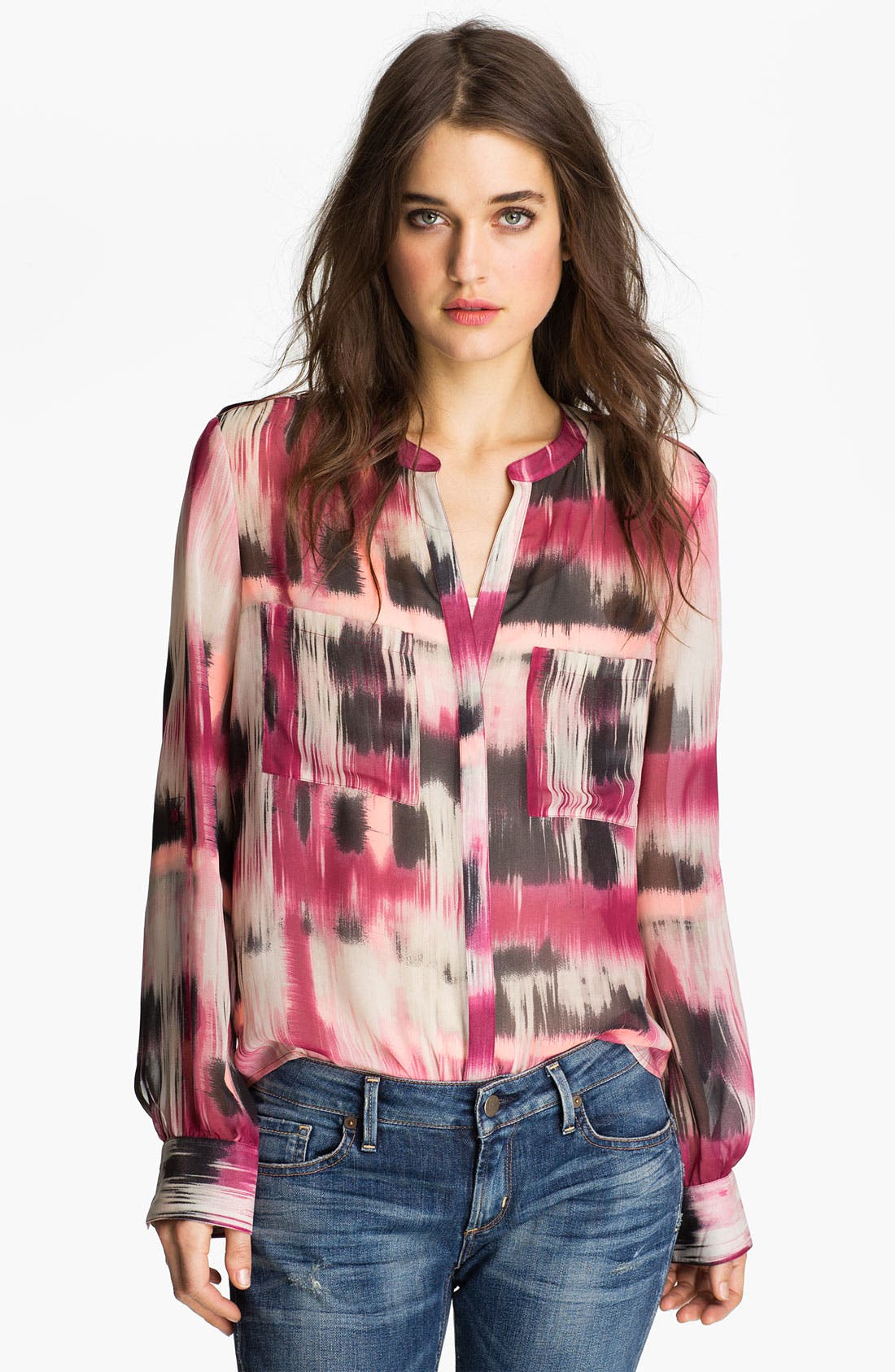 Alternate Image 1 Selected - Sanctuary Abstract Print Chiffon Shirt