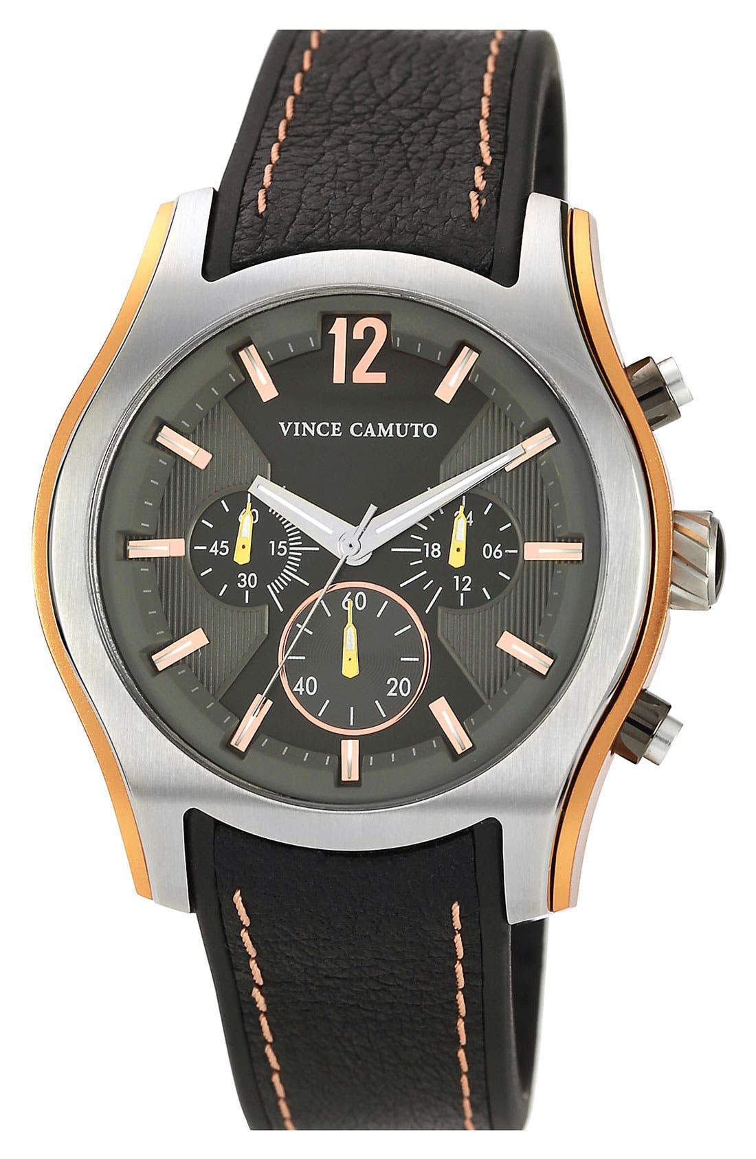 Aluminum Accent Chronograph Watch, 44mm,                         Main,                         color, Black