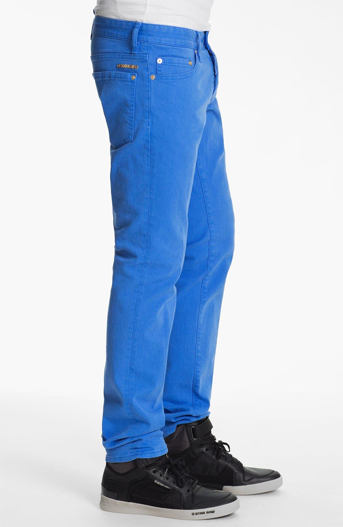 Alternate Image 3  - Dsquared2 Garment Dyed Slim Fit Jeans