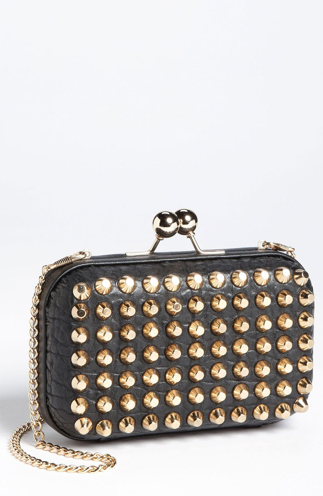 Main Image - Street Level Studded Pillbox Clutch