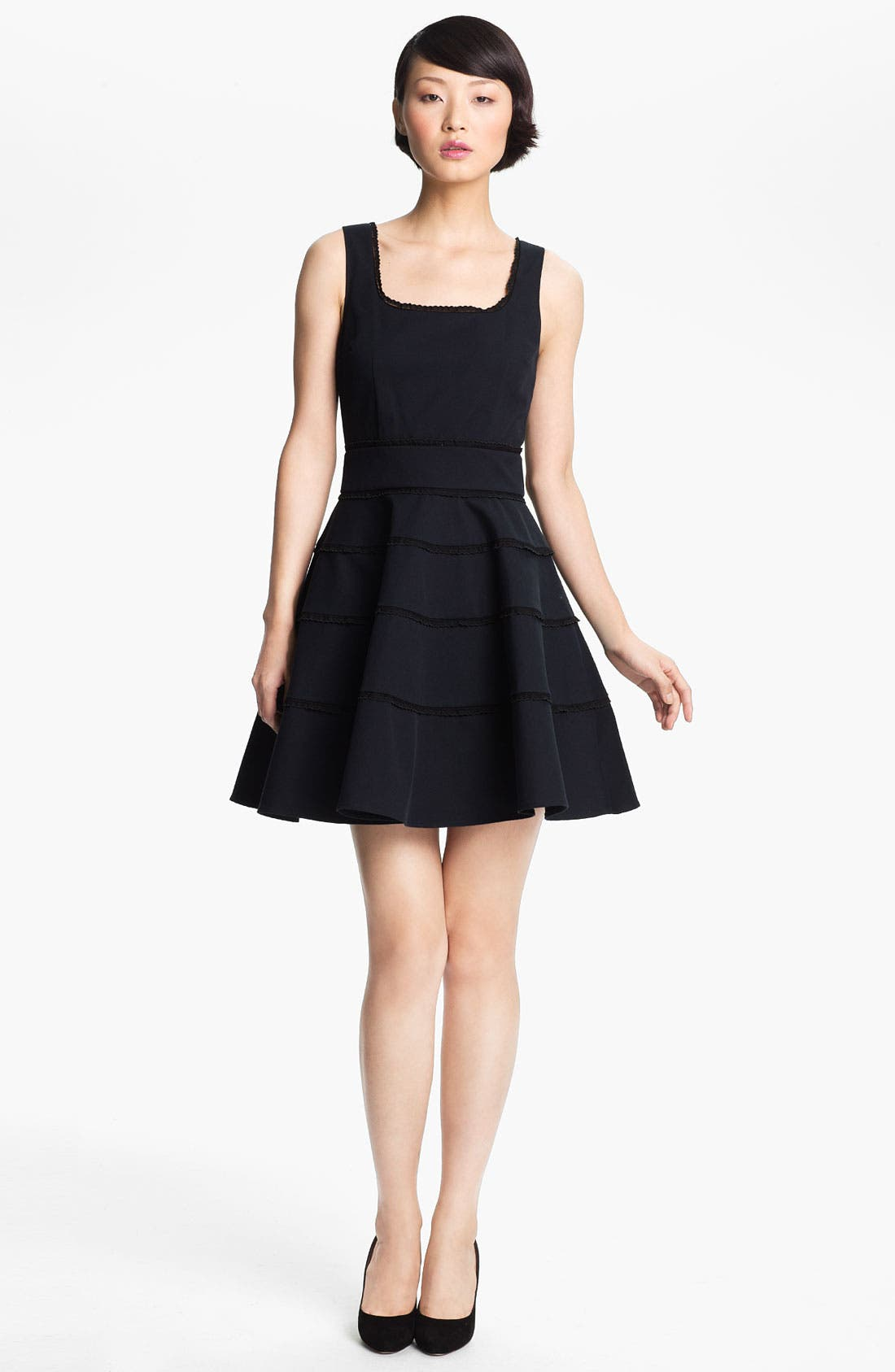 Alternate Image 1 Selected - RED Valentino Tiered Skirt Dress
