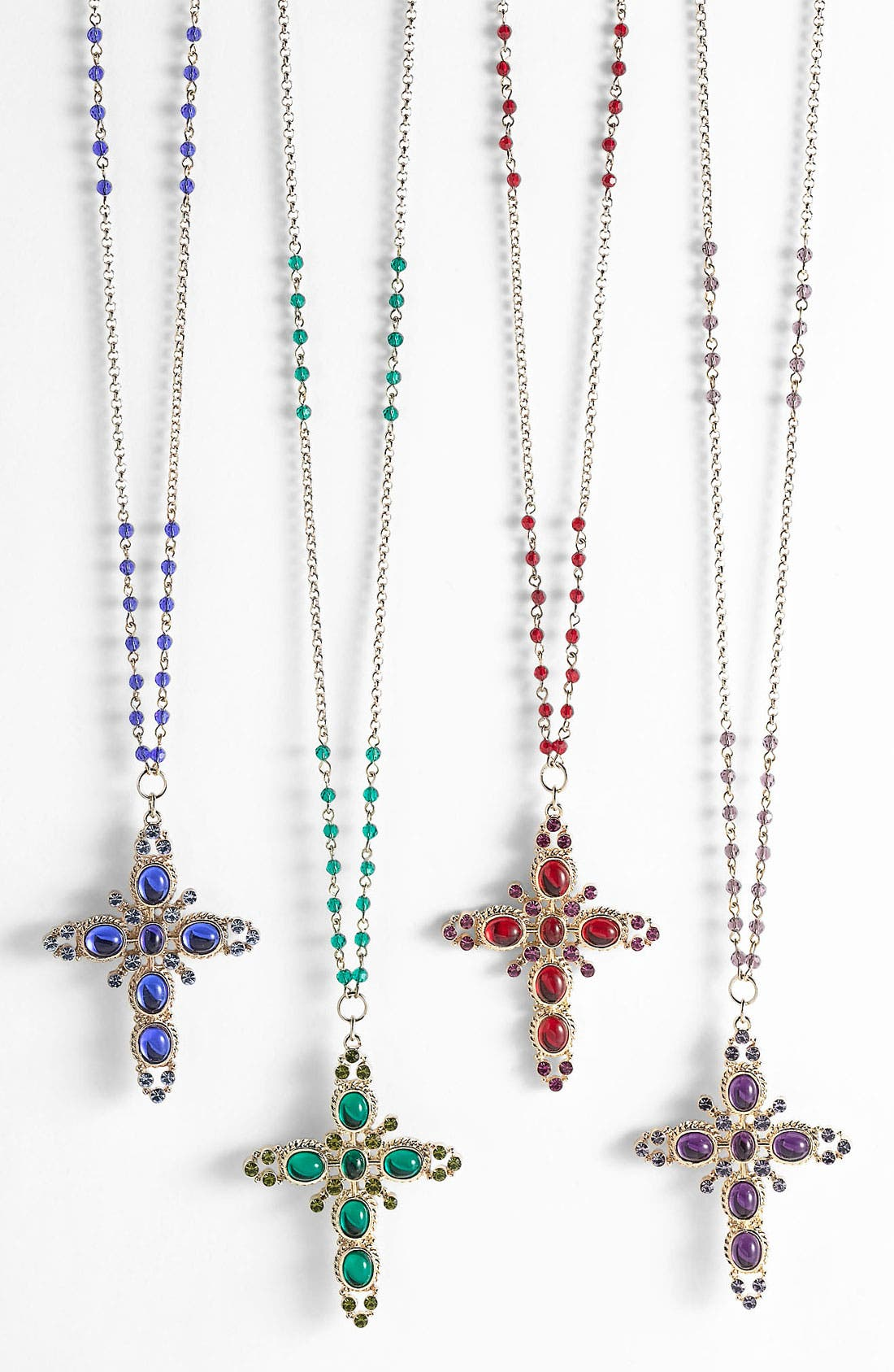 Main Image - Sequin Cross Pendant Necklace