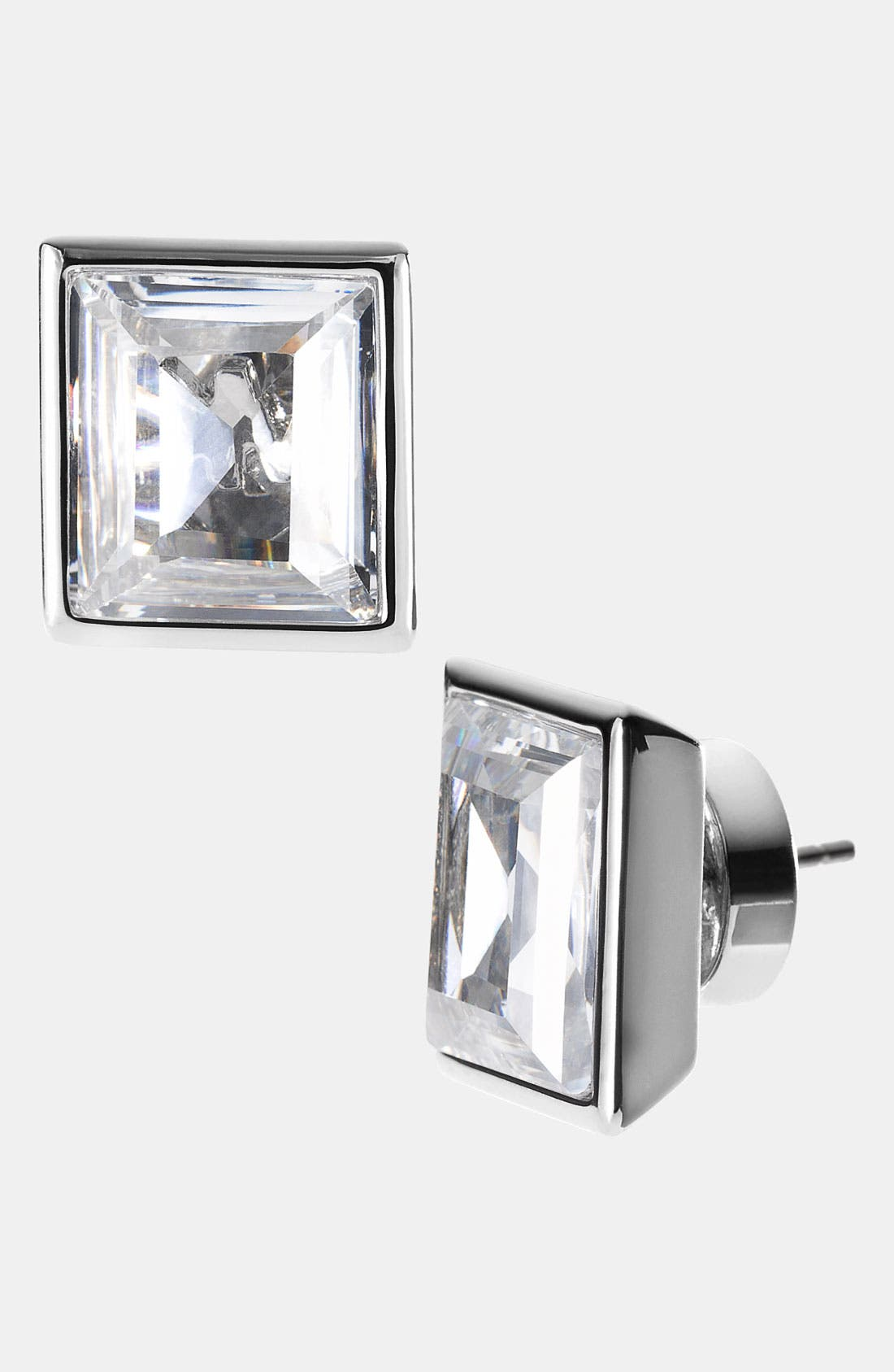 Alternate Image 1 Selected - Michael Kors 'Cocktail Party' Square Crystal Stud Earrings