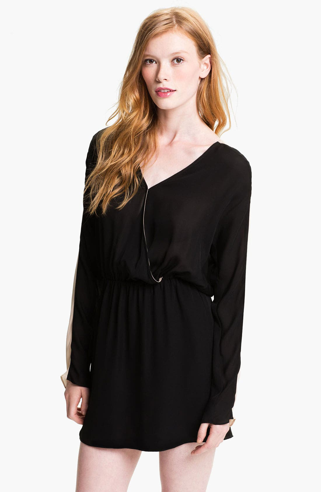 Main Image - Parker Colorblock Silk Surplice Dress