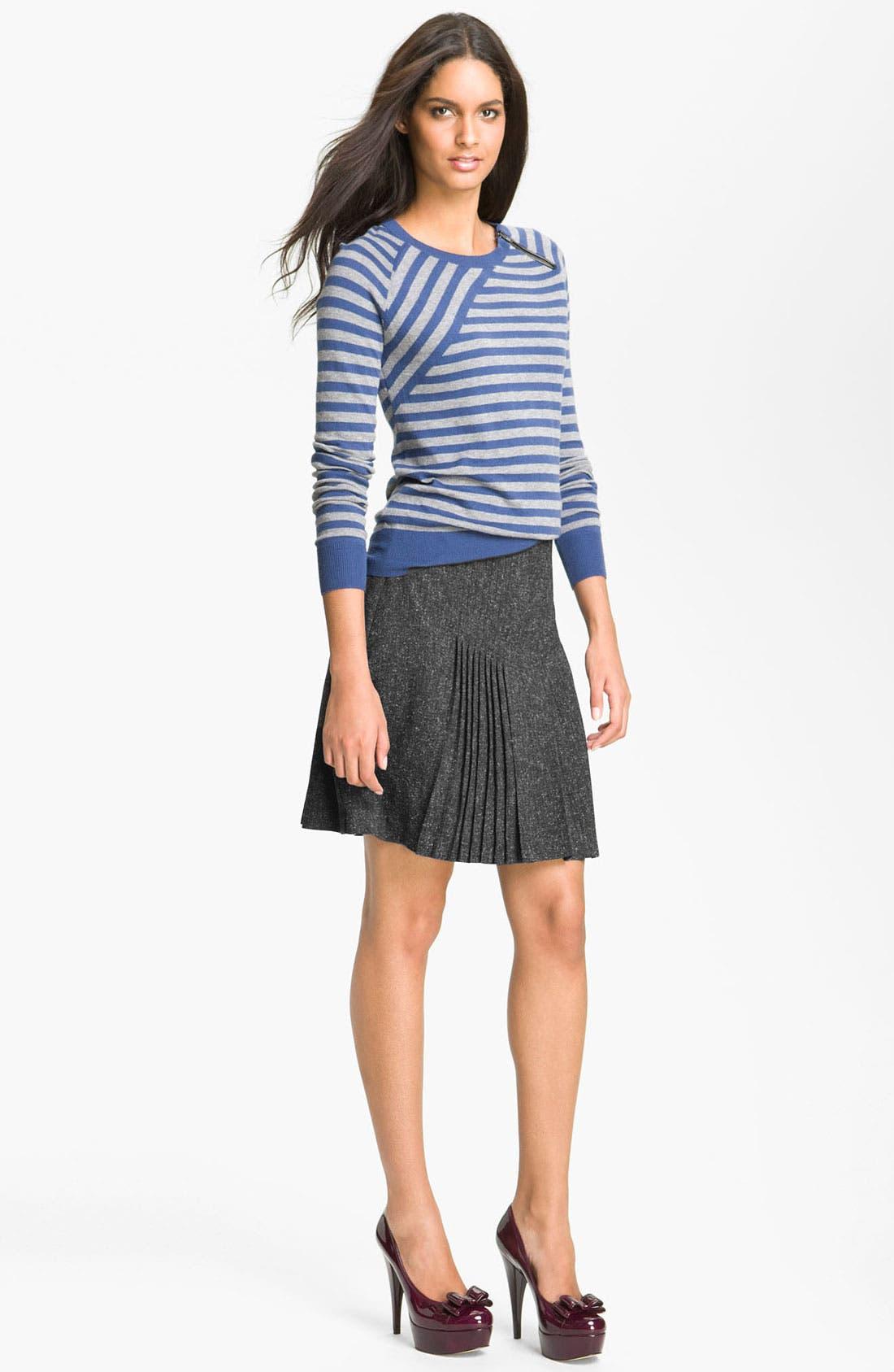 Alternate Image 4  - Halogen® Pleat Front Tweed Skirt