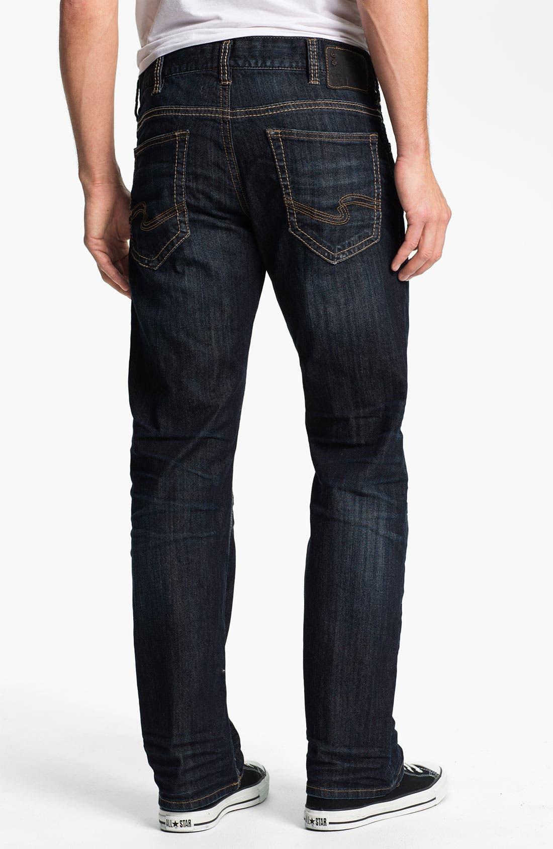 Alternate Image 1 Selected - Silver Jeans Co. 'Zac' Straight Leg Jeans (Indigo)
