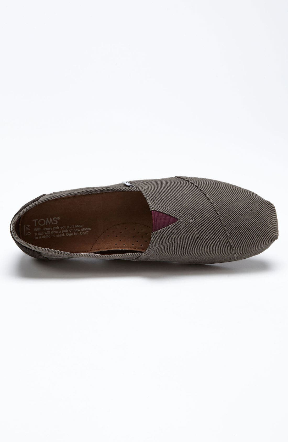 Alternate Image 3  - TOMS 'Classic' Twill Slip-On (Men) (Limited Edition - Movember)