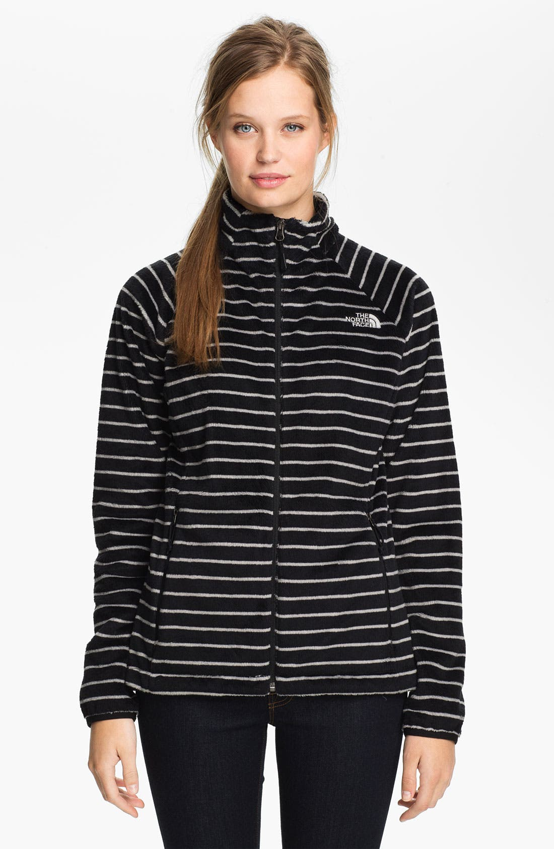 Alternate Image 1 Selected - The North Face 'Osito' Stripe Fleece Jacket