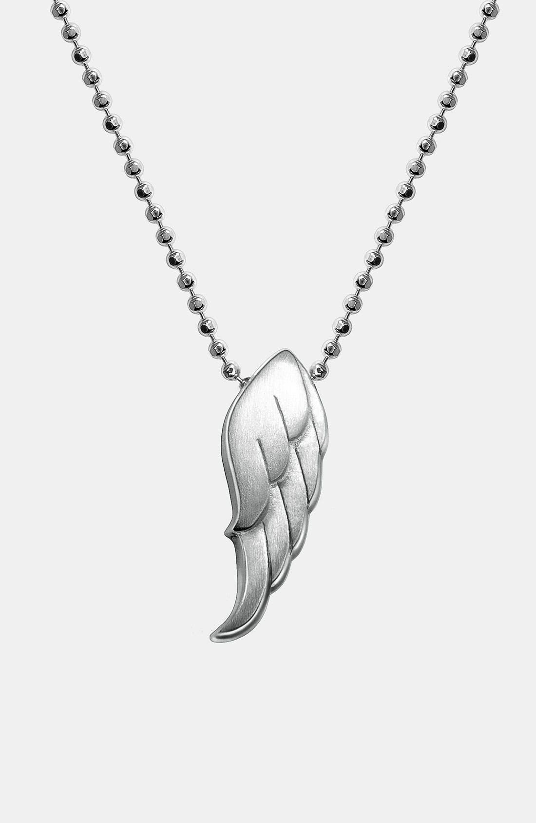 Alternate Image 1 Selected - Alex Woo 'Little Faith' Wing Pendant Necklace