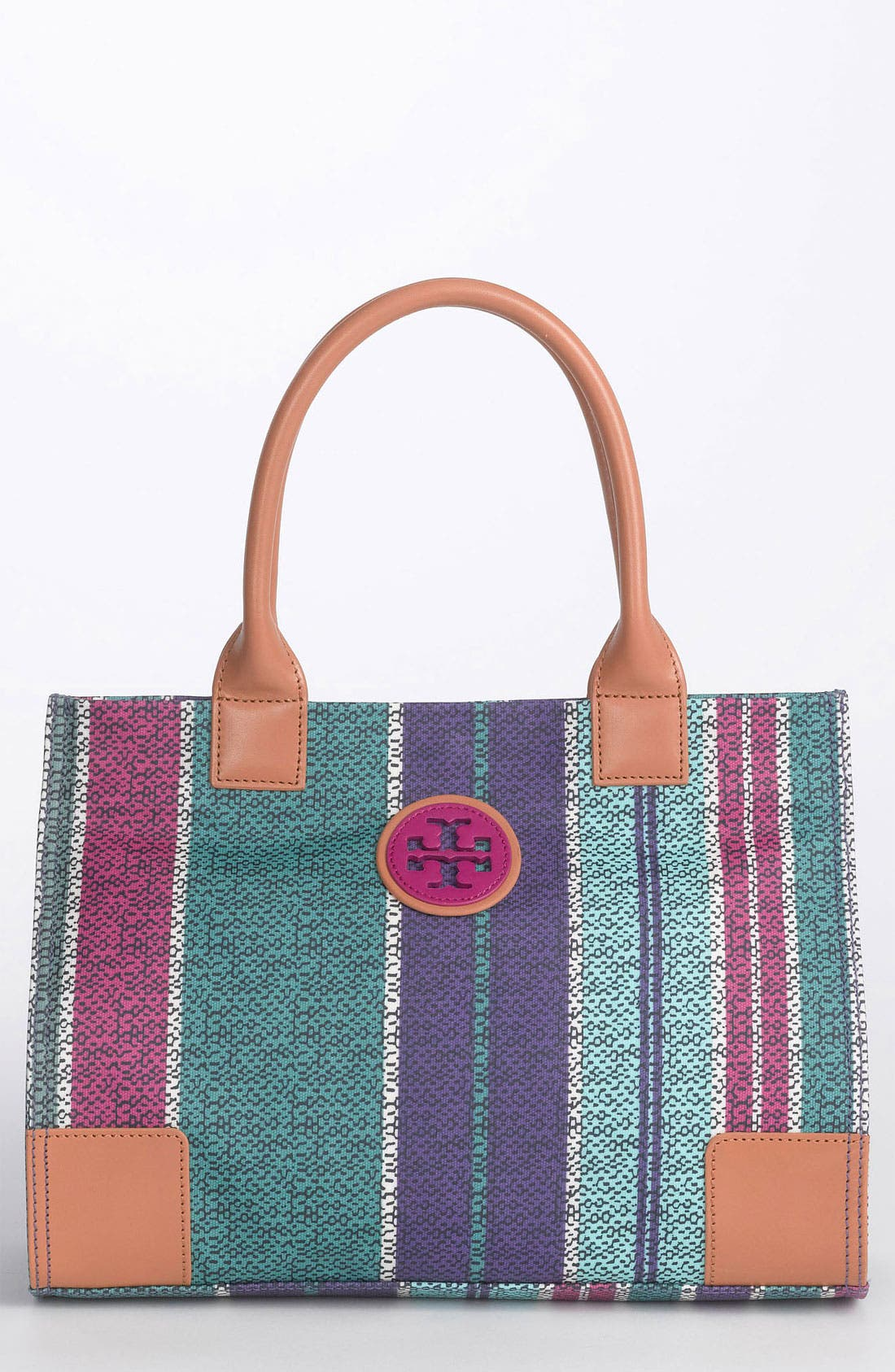 Main Image - Tory Burch 'Mini' Coated Canvas Tote