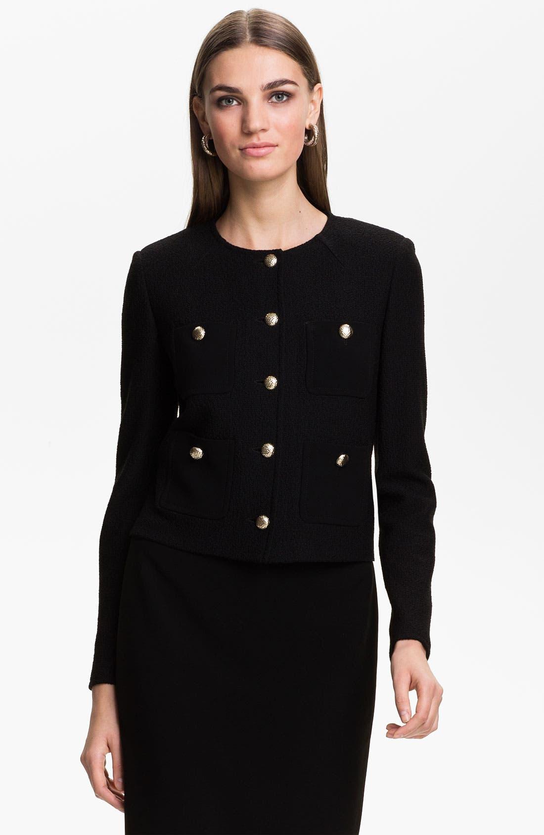 Alternate Image 1 Selected - St. John Collection Bouclé Knit Jacket