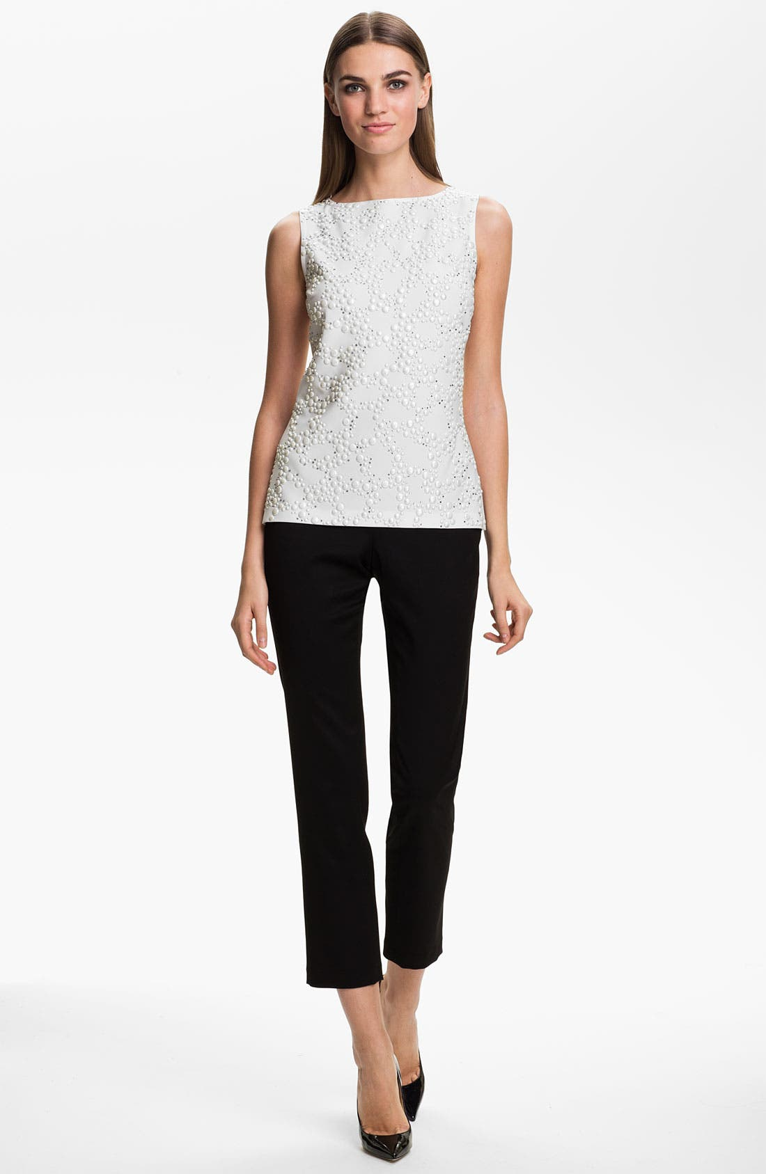 Alternate Image 2  - St. John Collection 'Alexa' Stretch Venetian Wool Ankle Pants