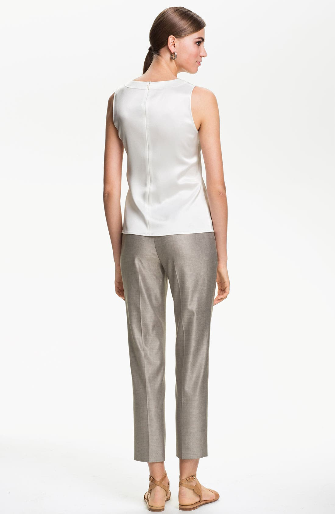 Alternate Image 5  - St. John Collection 'Emma' Mélange Twill Crop Pants