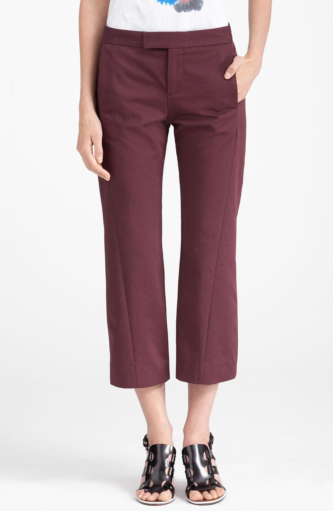 Alternate Image 1 Selected - Marni Edition Crop Crepe Pants