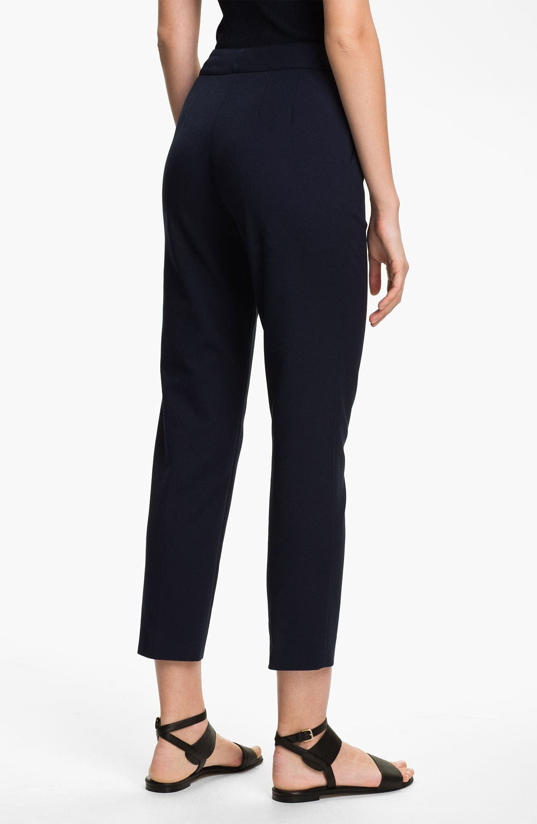 Alternate Image 2  - St. John Collection 'Emma' Double Weave Stretch Cotton Crop Pants