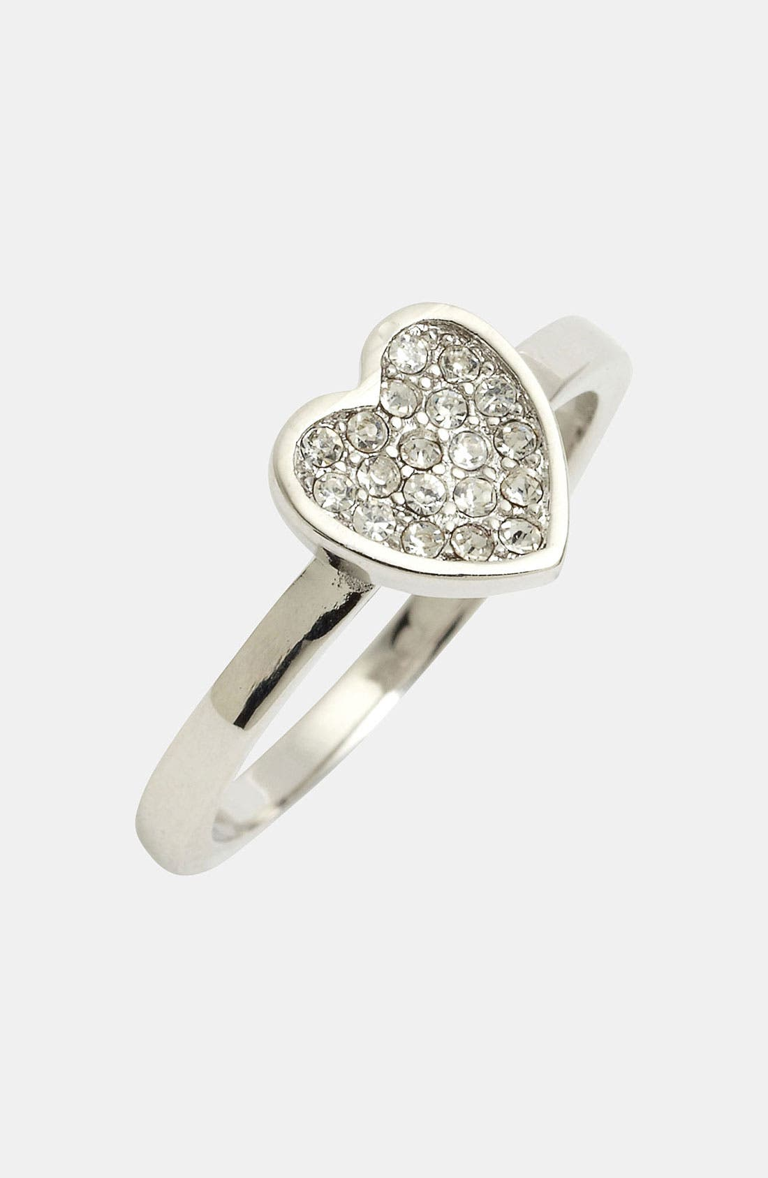 Alternate Image 1 Selected - Ariella Collection Pavé Heart Ring