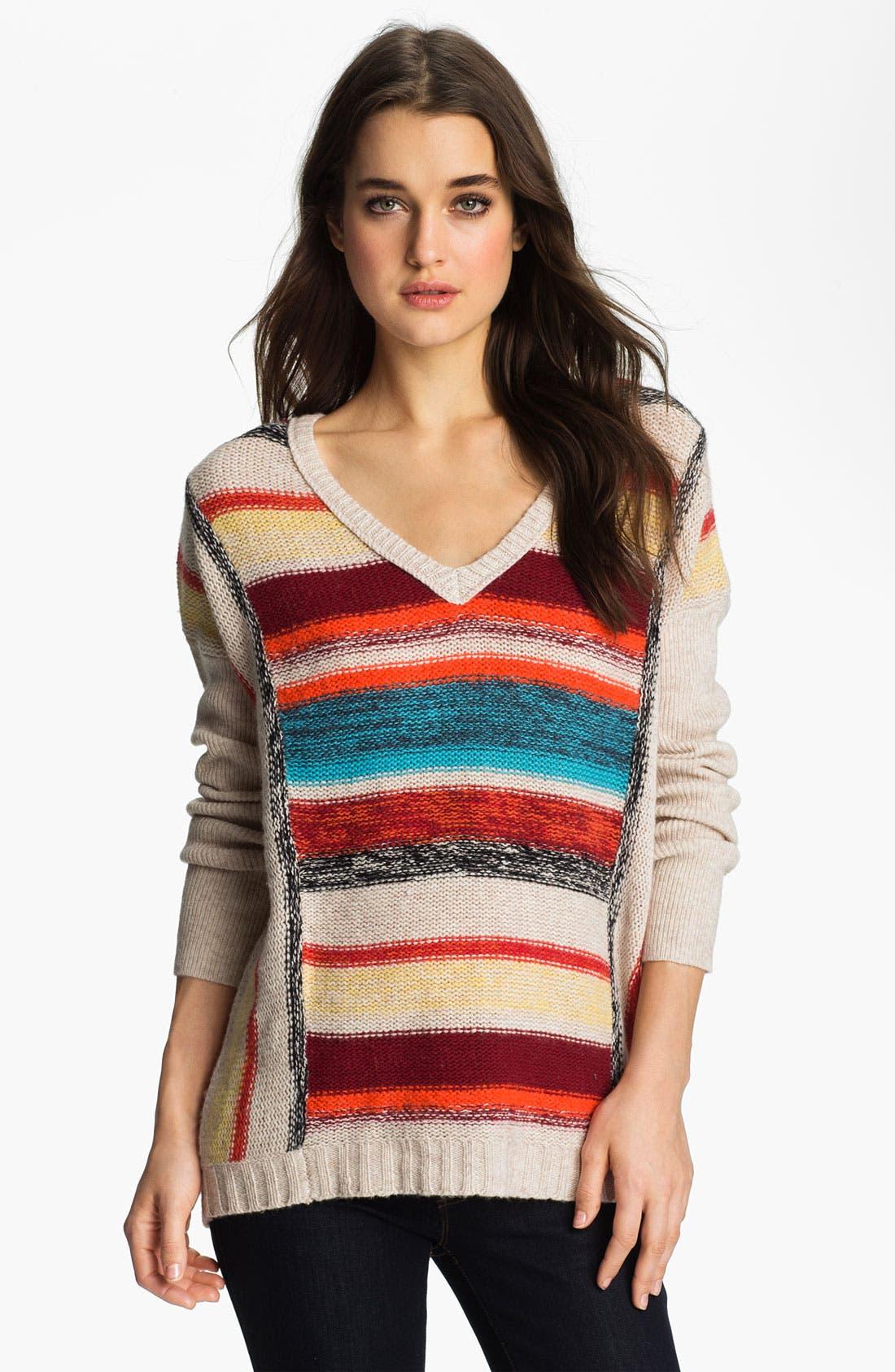 Alternate Image 1 Selected - Velvet by Graham & Spencer Stripe Sweater