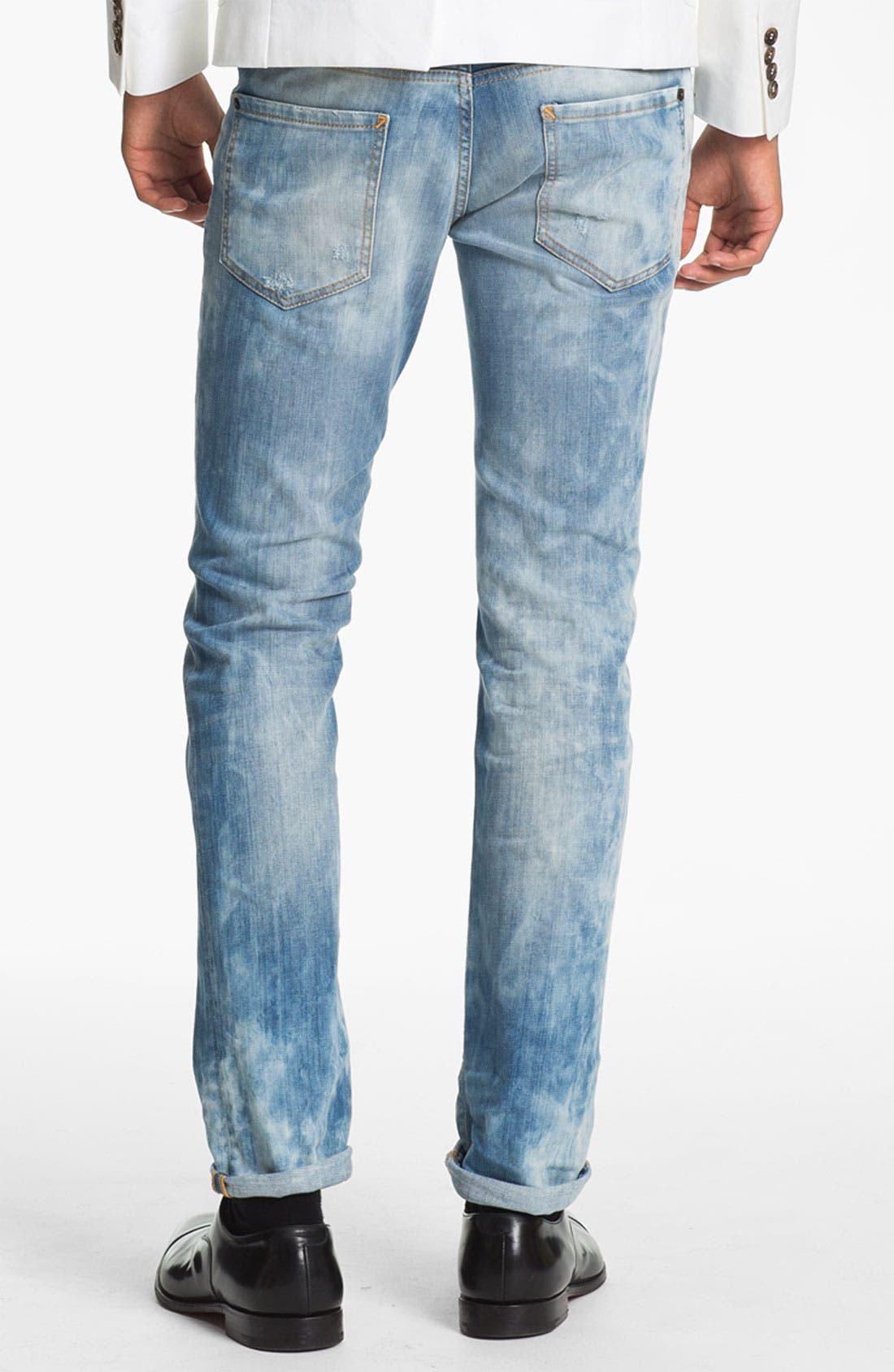 Alternate Image 2  - Dsquared2 Slim Fit Jeans (Bleach Blue)