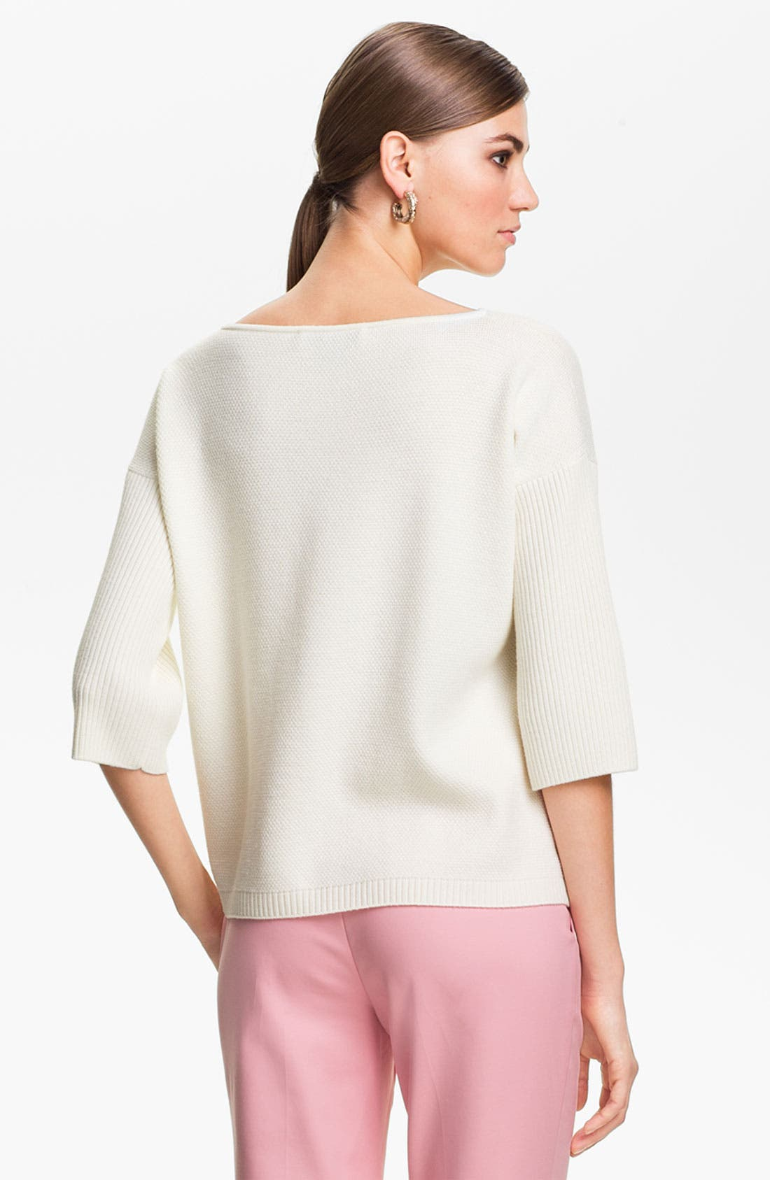 Alternate Image 4  - St. John Yellow Label Colorblock Popcorn Knit Sweater