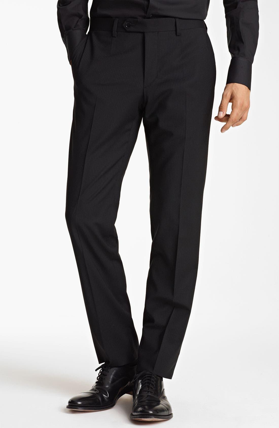 Alternate Image 4  - Dolce&Gabbana Tonal Stripe Suit