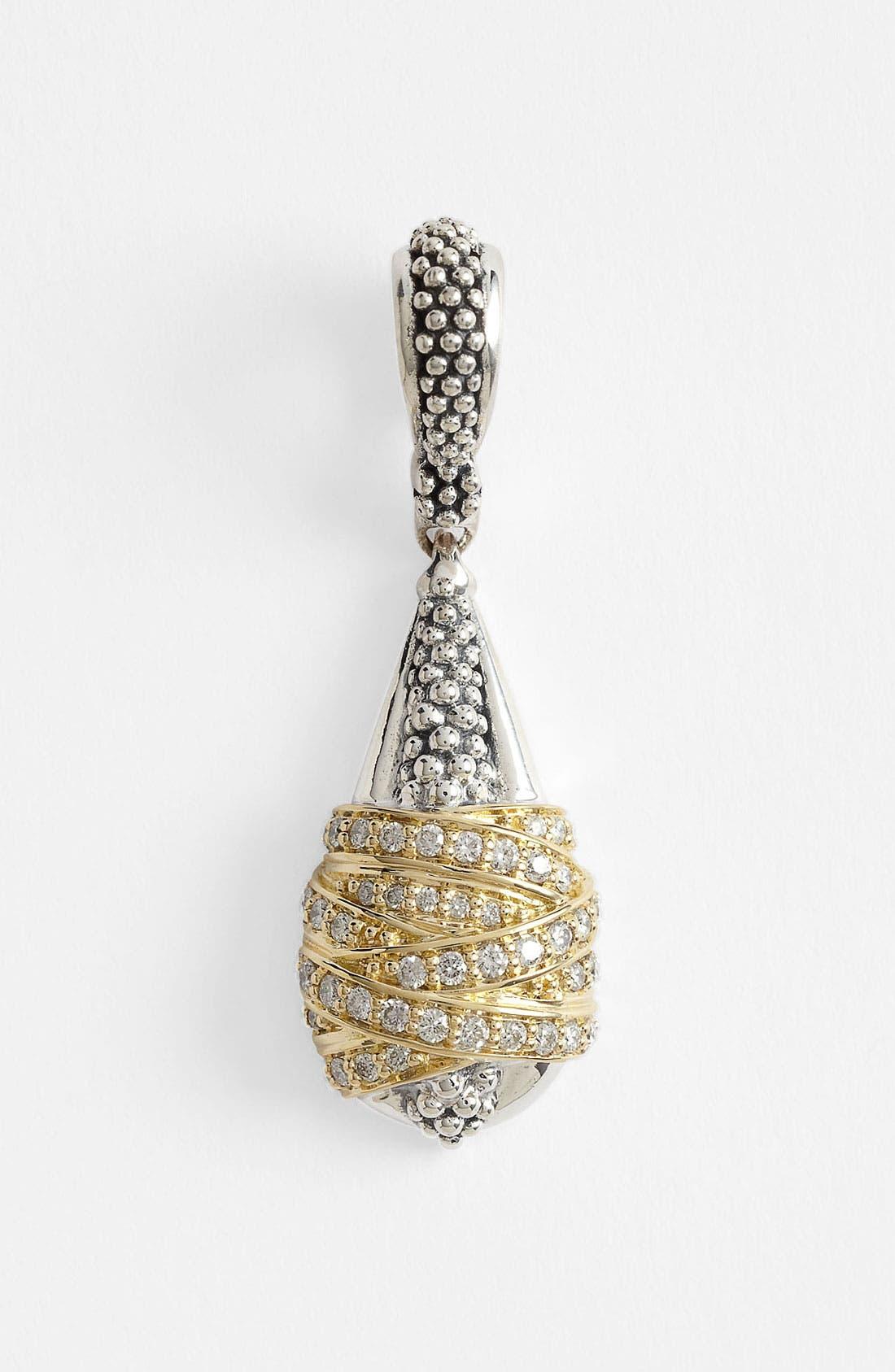 Main Image - Lagos 'Embrace' Diamond & Caviar™ Pendant