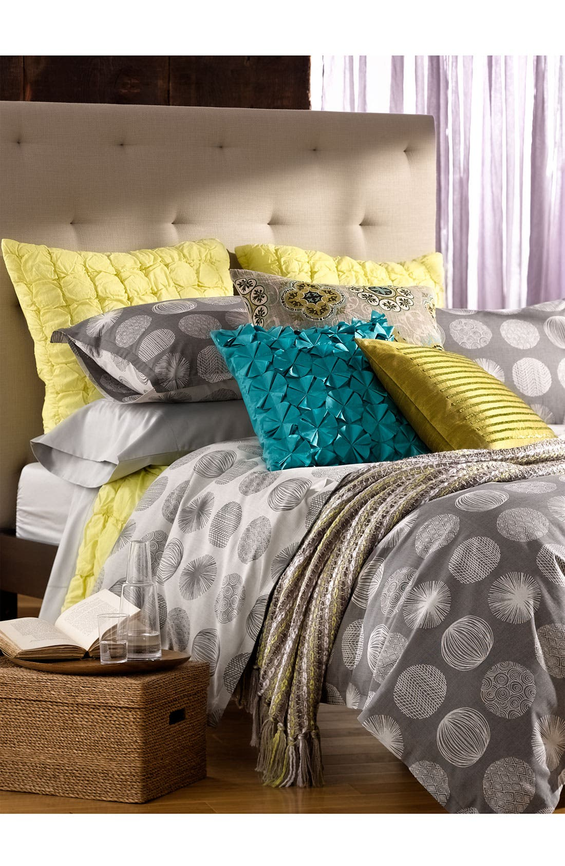 Alternate Image 3  - Nordstrom at Home 'Scribble Dots' 300 Thread Count Jacquard Duvet Cover
