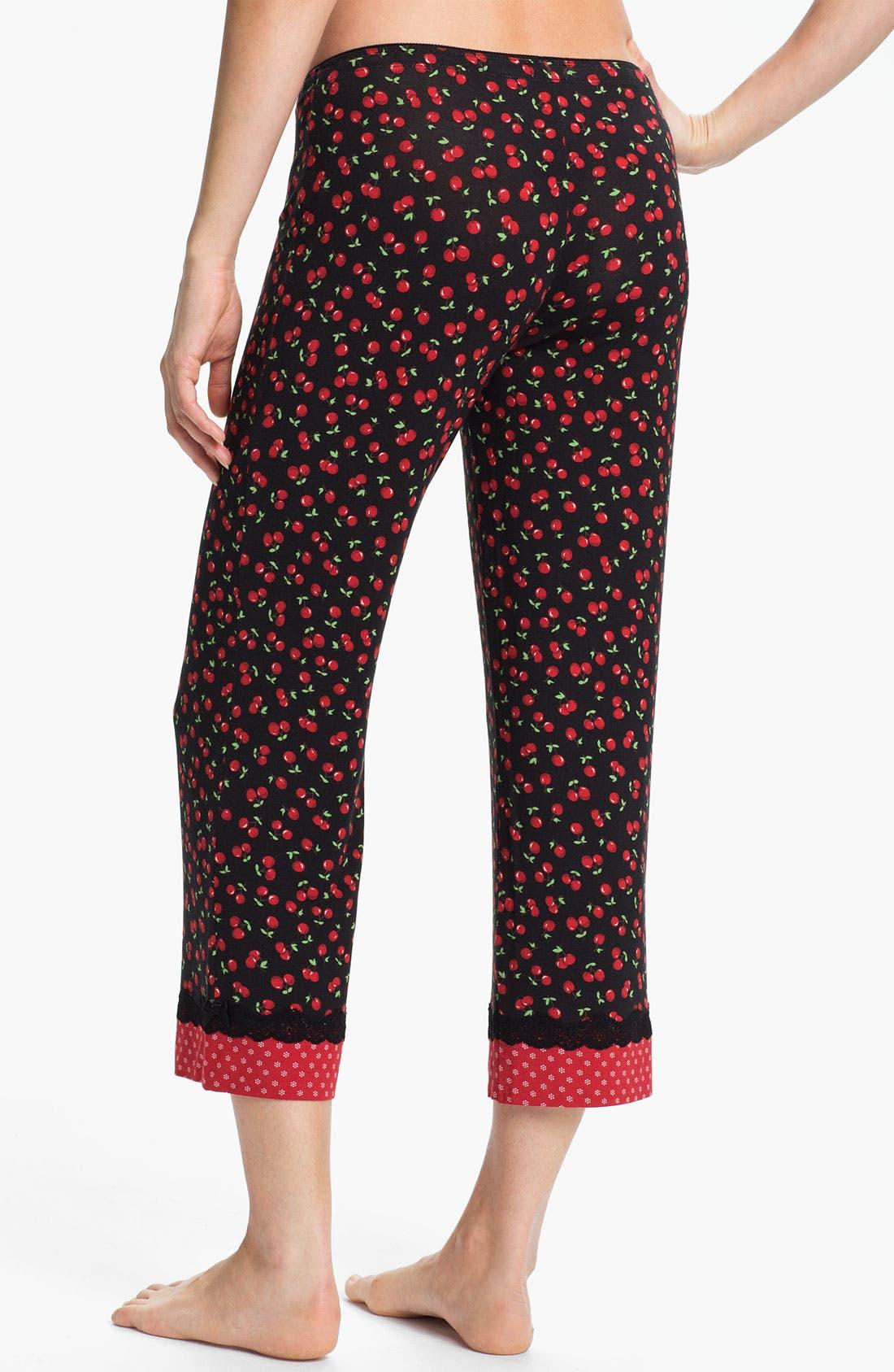 Alternate Image 2  - PJ Salvage 'Cherry Cherry' Knit Capri Pants