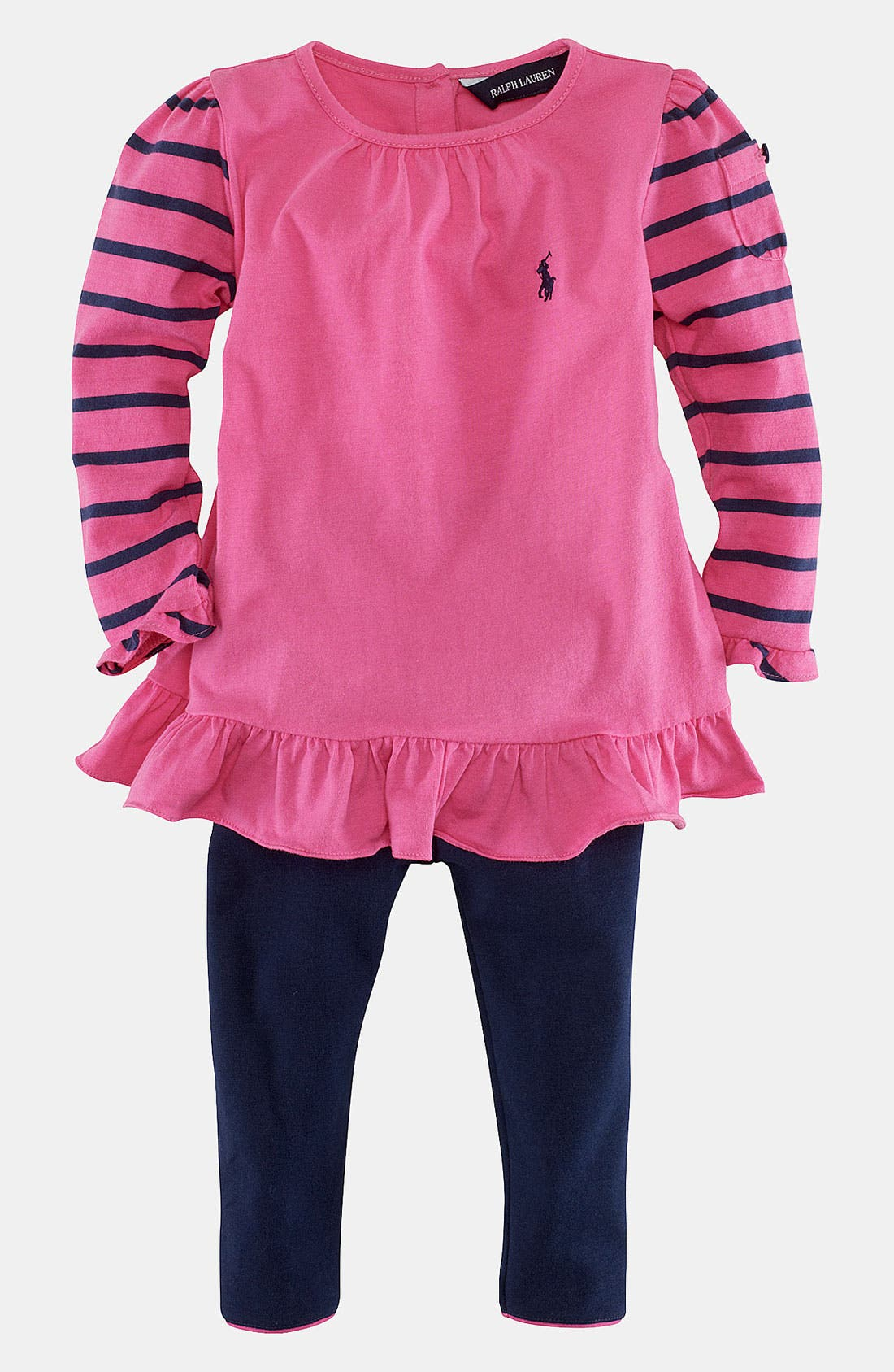 Alternate Image 1 Selected - Ralph Lauren Shirt & Leggings (Infant)