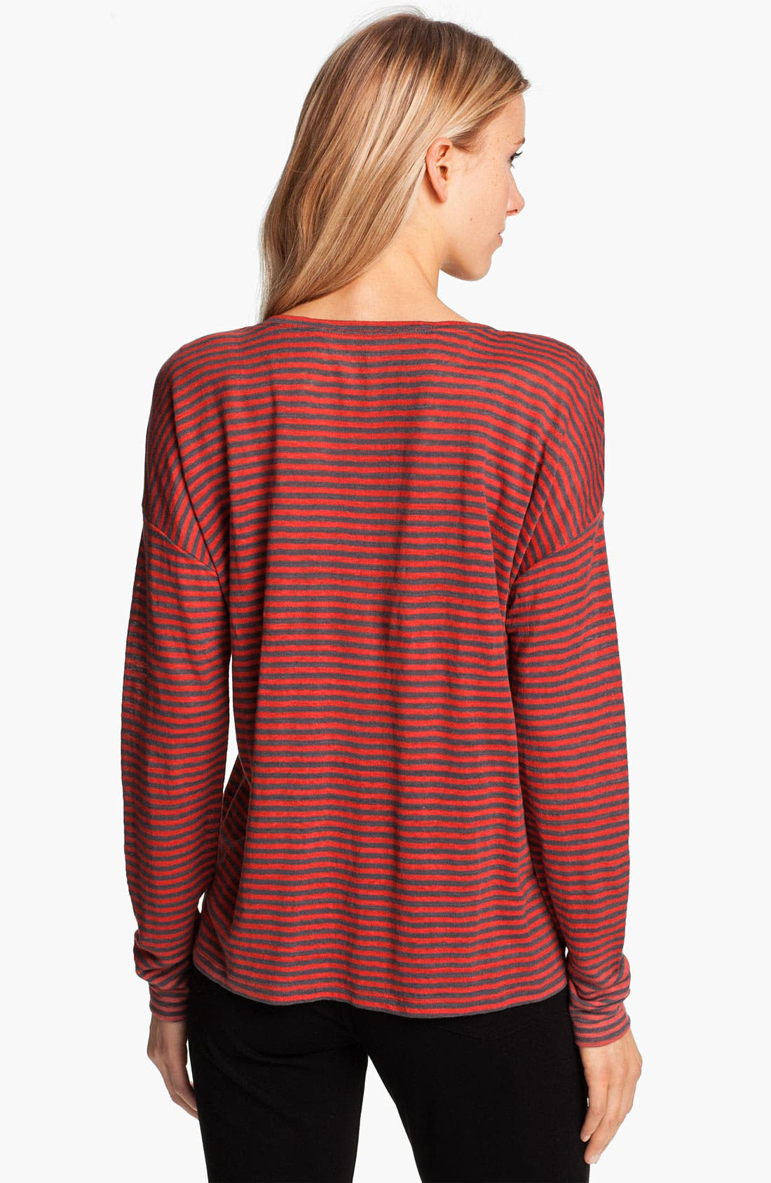 Alternate Image 2  - Eileen Fisher Stripe Linen Jersey Top