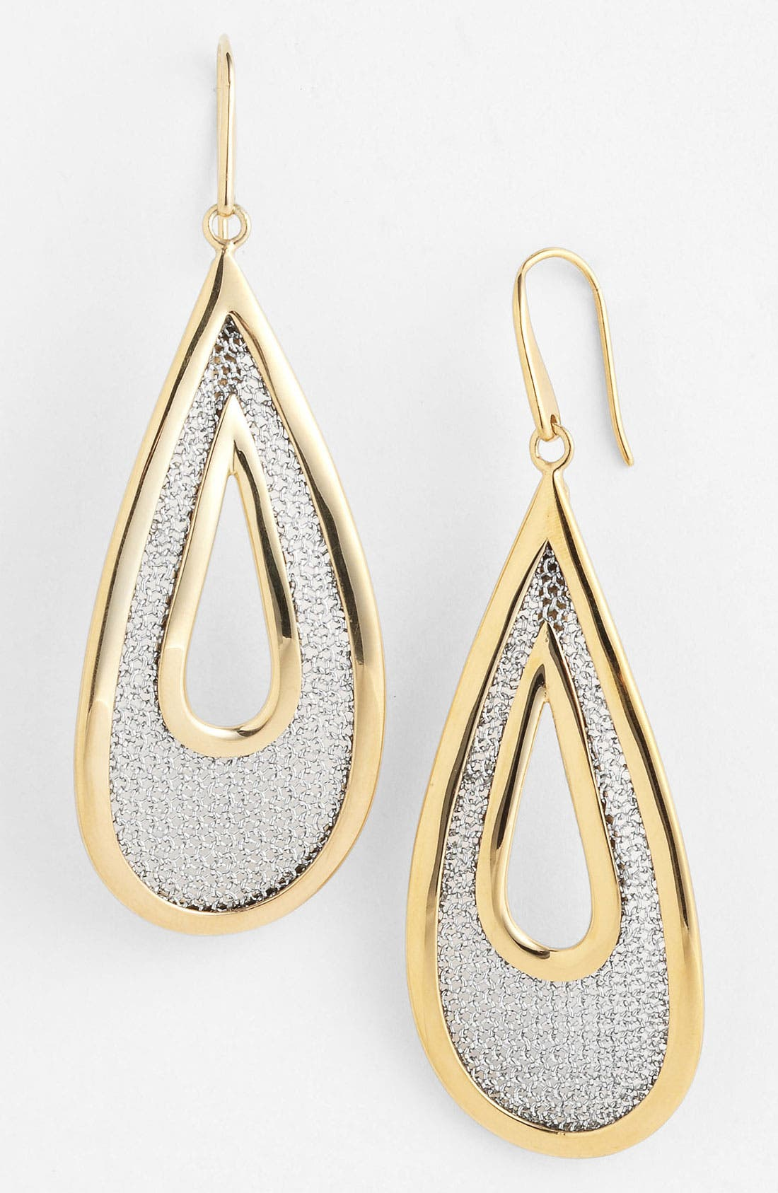 Main Image - Adami & Martucci 'Mesh' Large Open Teardrop Earrings (Nordstrom Exclusive)