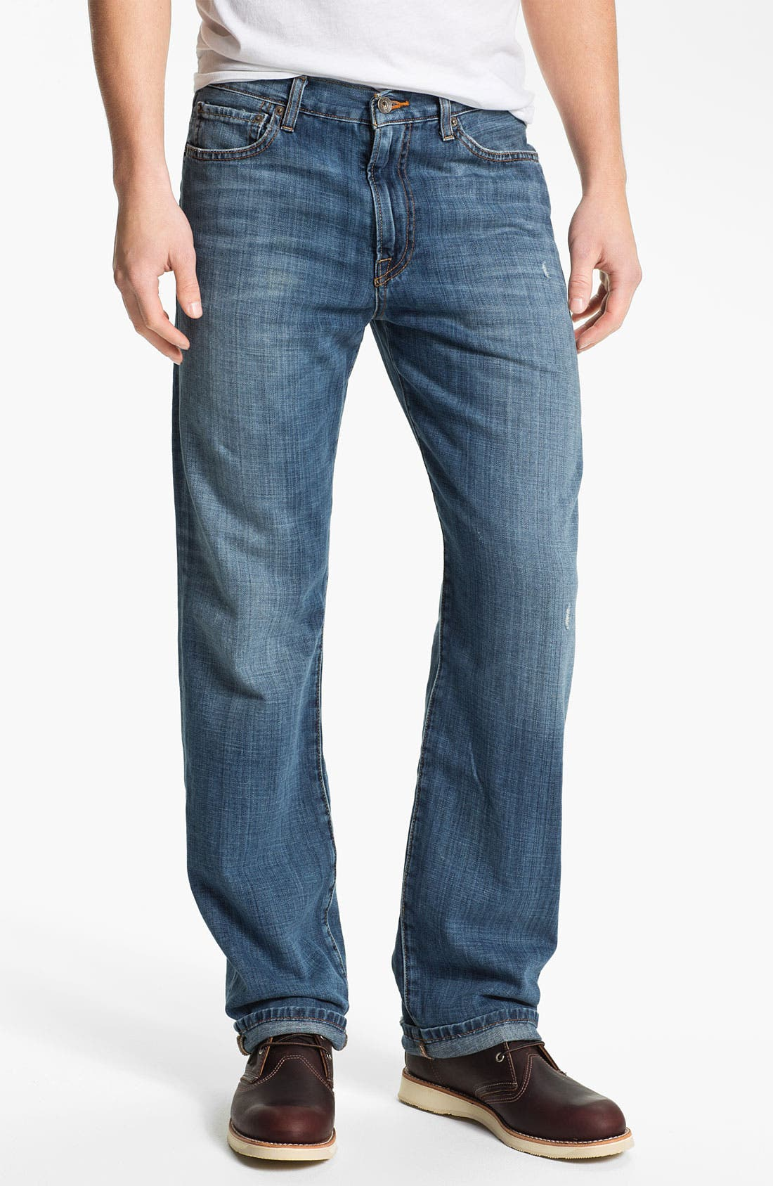 Alternate Image 1 Selected - Lucky Brand '329 Classic' Straight Leg Jeans (Light Gessner)