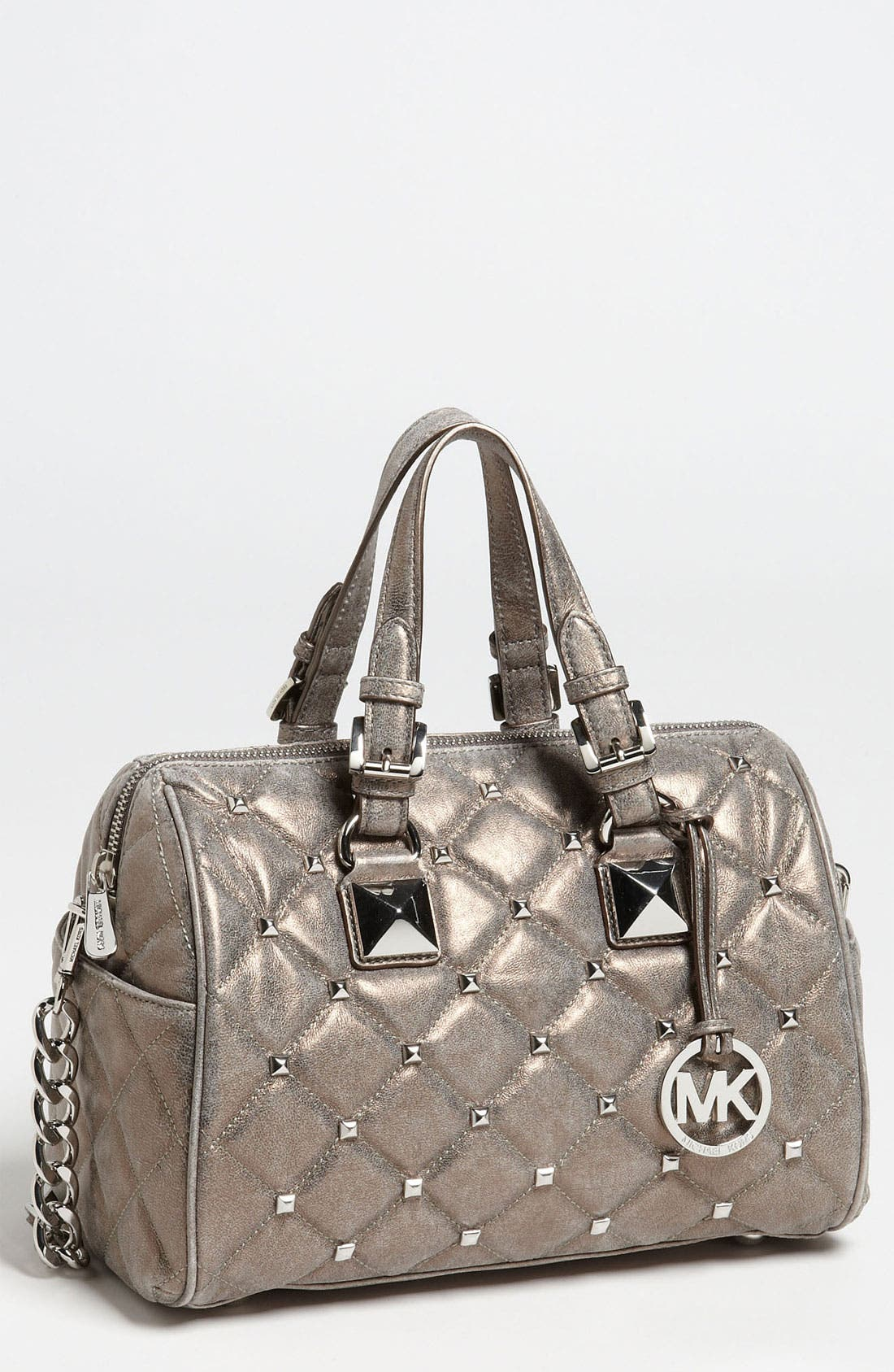 Alternate Image 1 Selected - MICHAEL Michael Kors 'Grayson Quilted Stud - Medium' Satchel