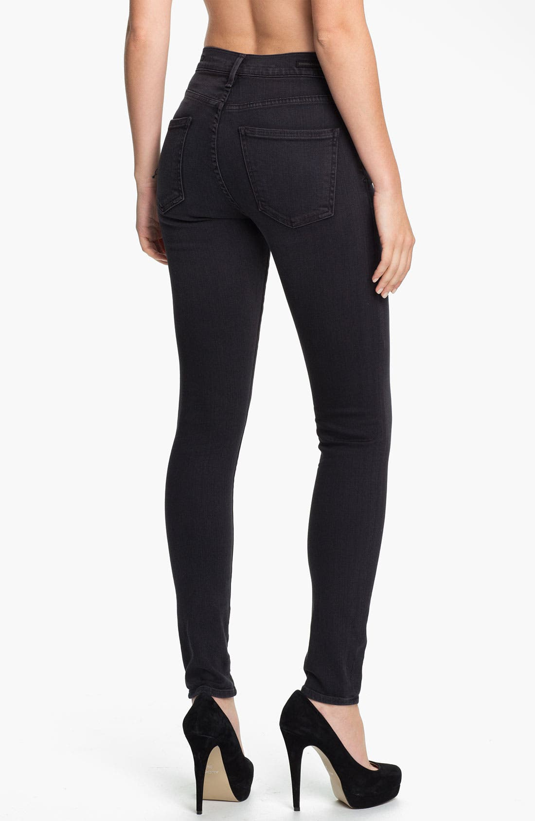 Alternate Image 2  - Citizens of Humanity 'Rocket' High Rise Skinny Jeans (Goth)