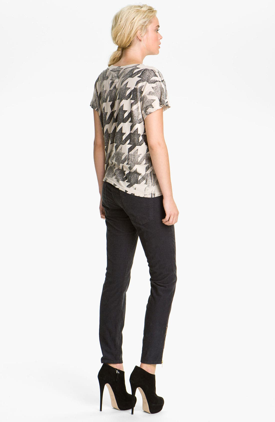 Alternate Image 4  - Current/Elliott 'The Stiletto' Moto Skinny Jeans (Shadow)