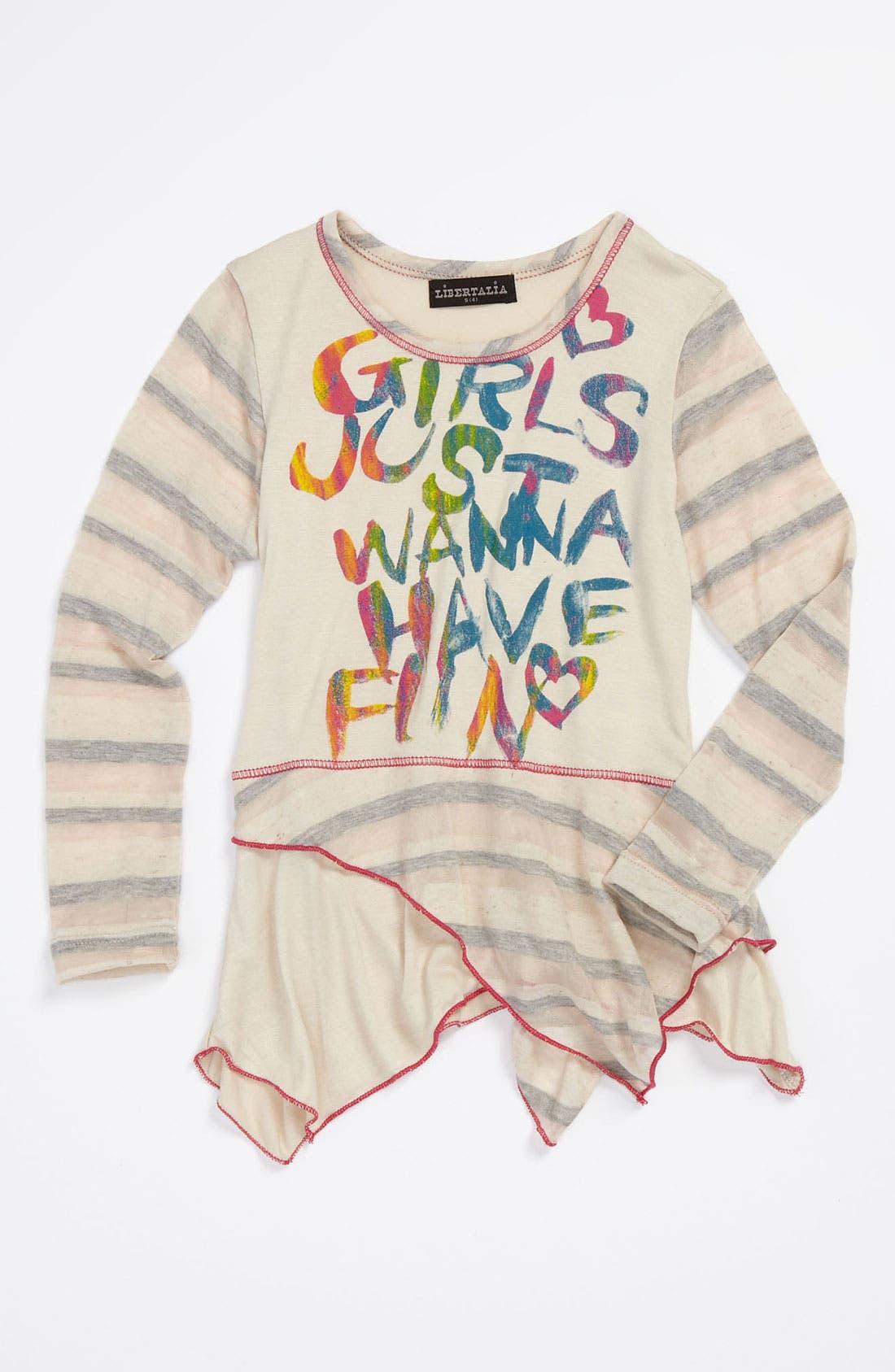 Alternate Image 1 Selected - Libertalia Long Sleeve Tunic (Little Girls)
