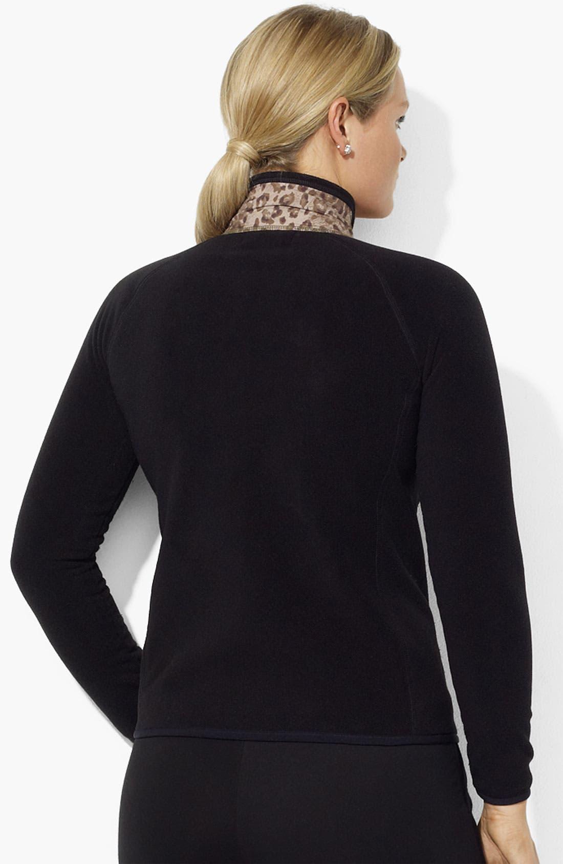 Alternate Image 2  - Lauren Ralph Lauren Leopard Panel Jacket (Plus)