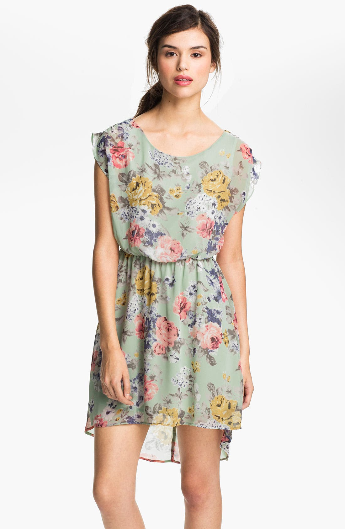 Alternate Image 1 Selected - Lush 'Dakota' Chiffon Dress (Juniors)