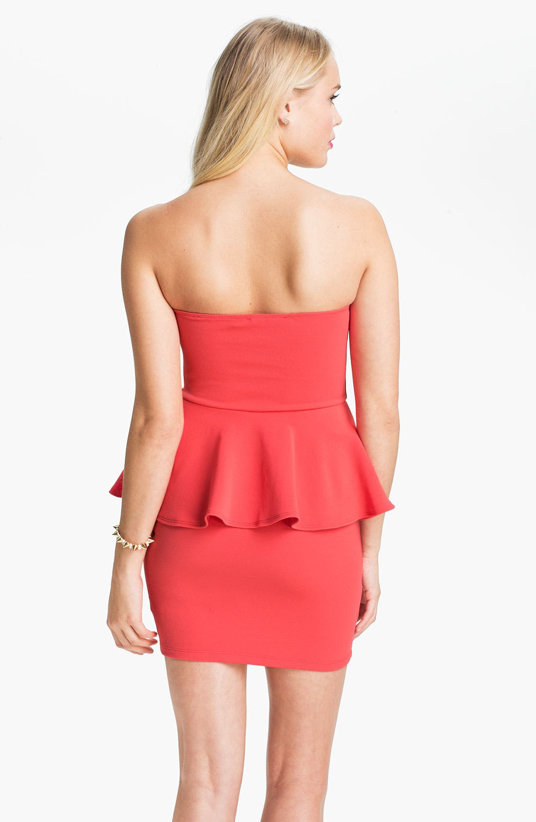 Alternate Image 2  - Lush Strapless Peplum Dress (Juniors)