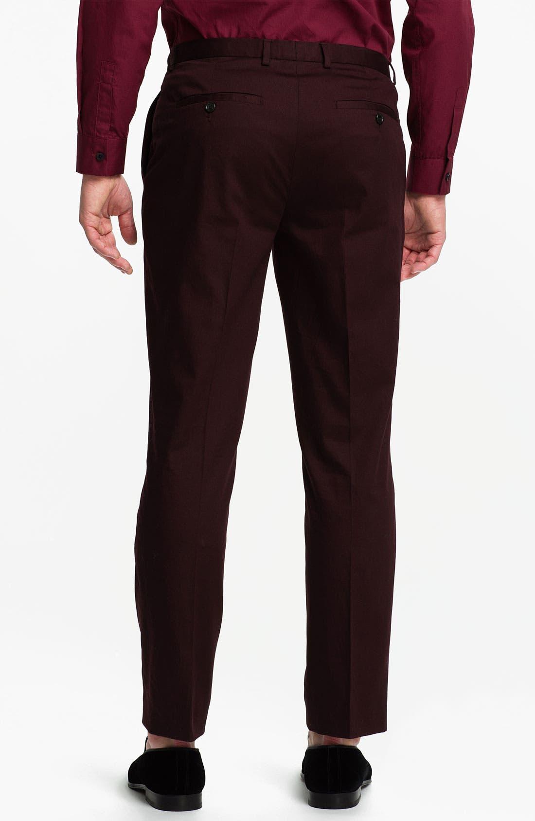 Alternate Image 2  - Topman Skinny Cotton Trousers