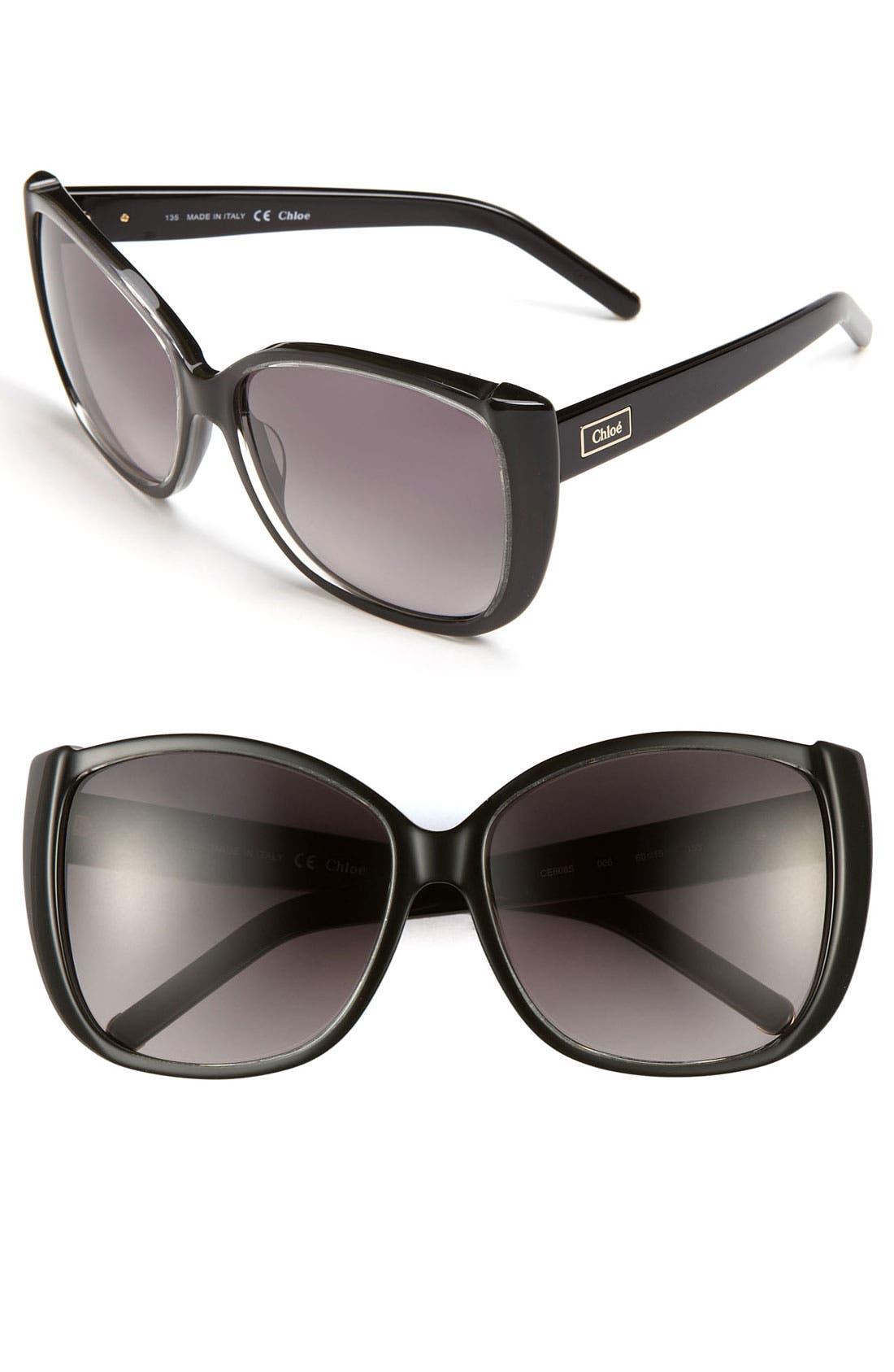 Main Image - Chloé 60mm Oversized Sunglasses
