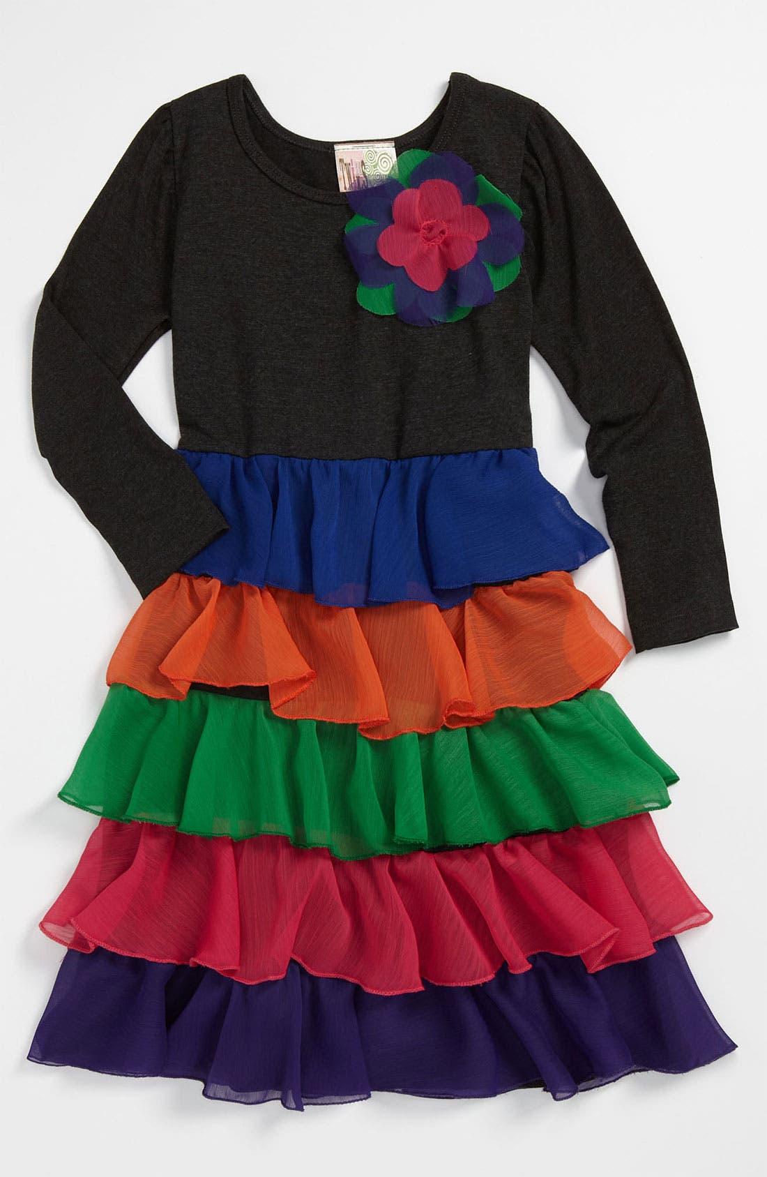 Alternate Image 1 Selected - Twirls & Twigs Tiered Dress (Little Girls)